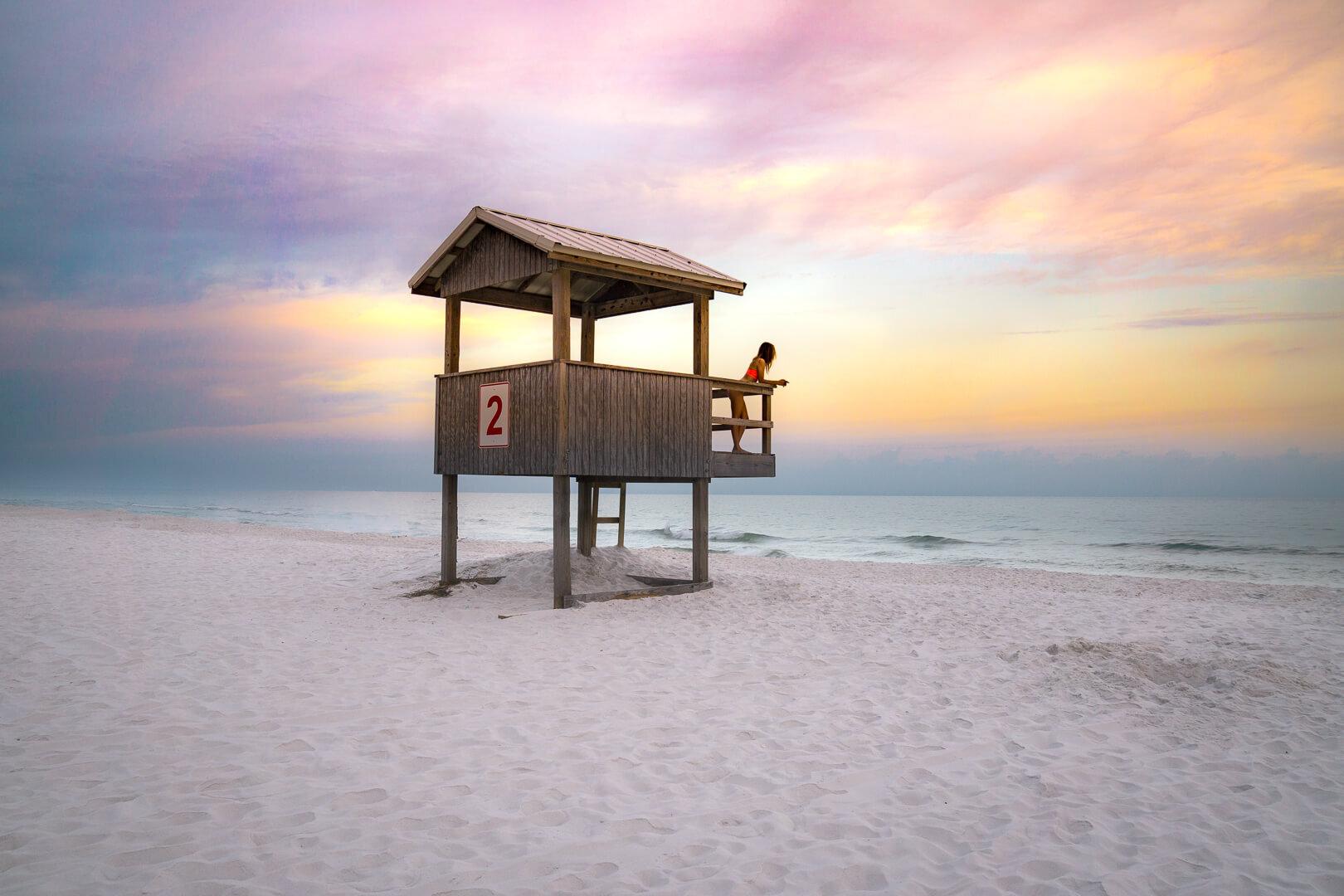 Sunrise views at Navarre Beach, Florida.