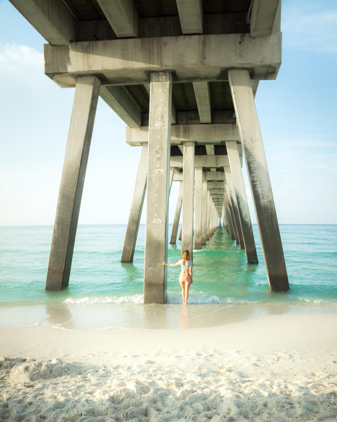 The peer at Navarre Beach, Florida.