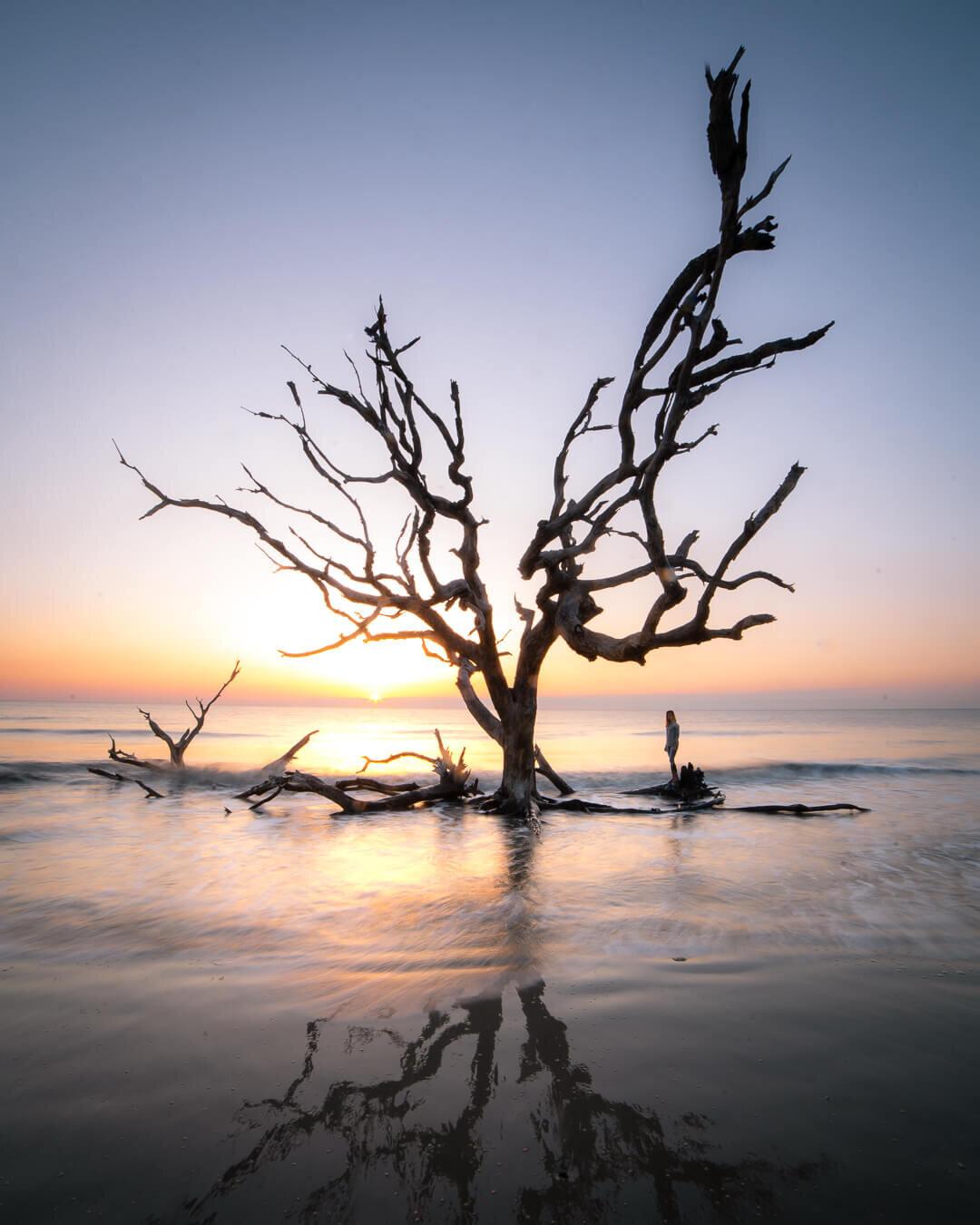 Sunrise on the coast of Georgia.