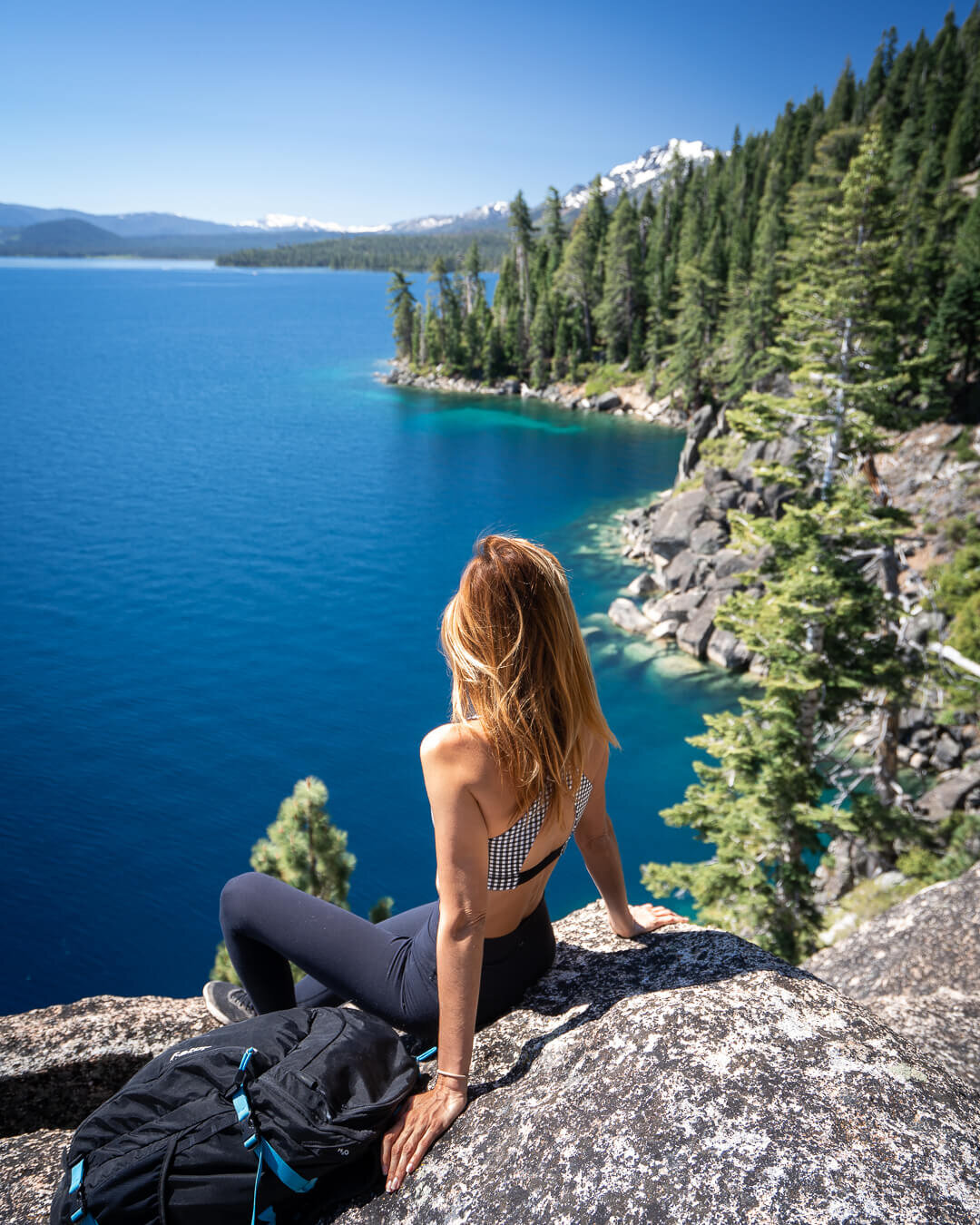 Views from the Rubicon Trail at D.L. Bliss State Park, Lake Tahoe.