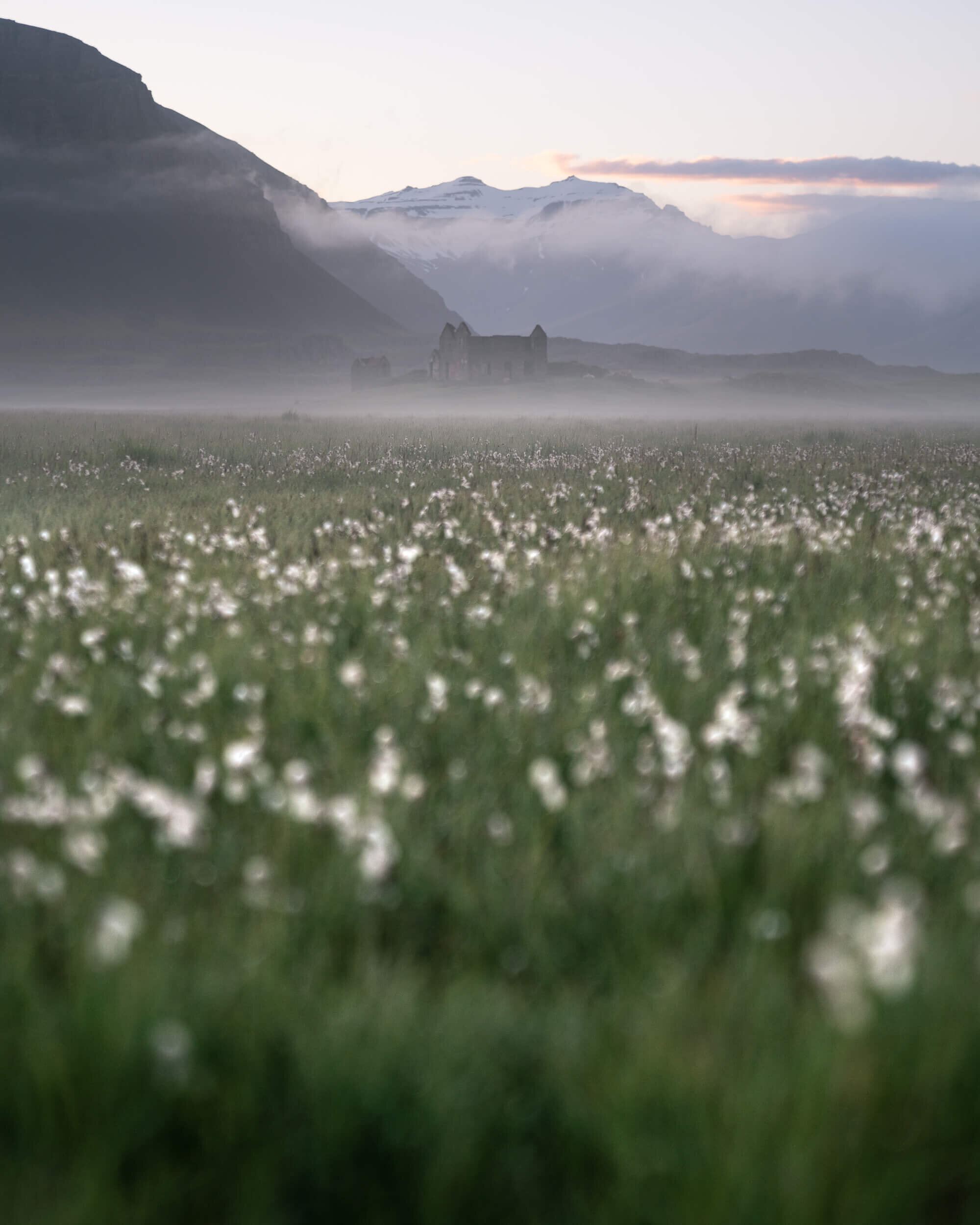 Early morning fog in Iceland.