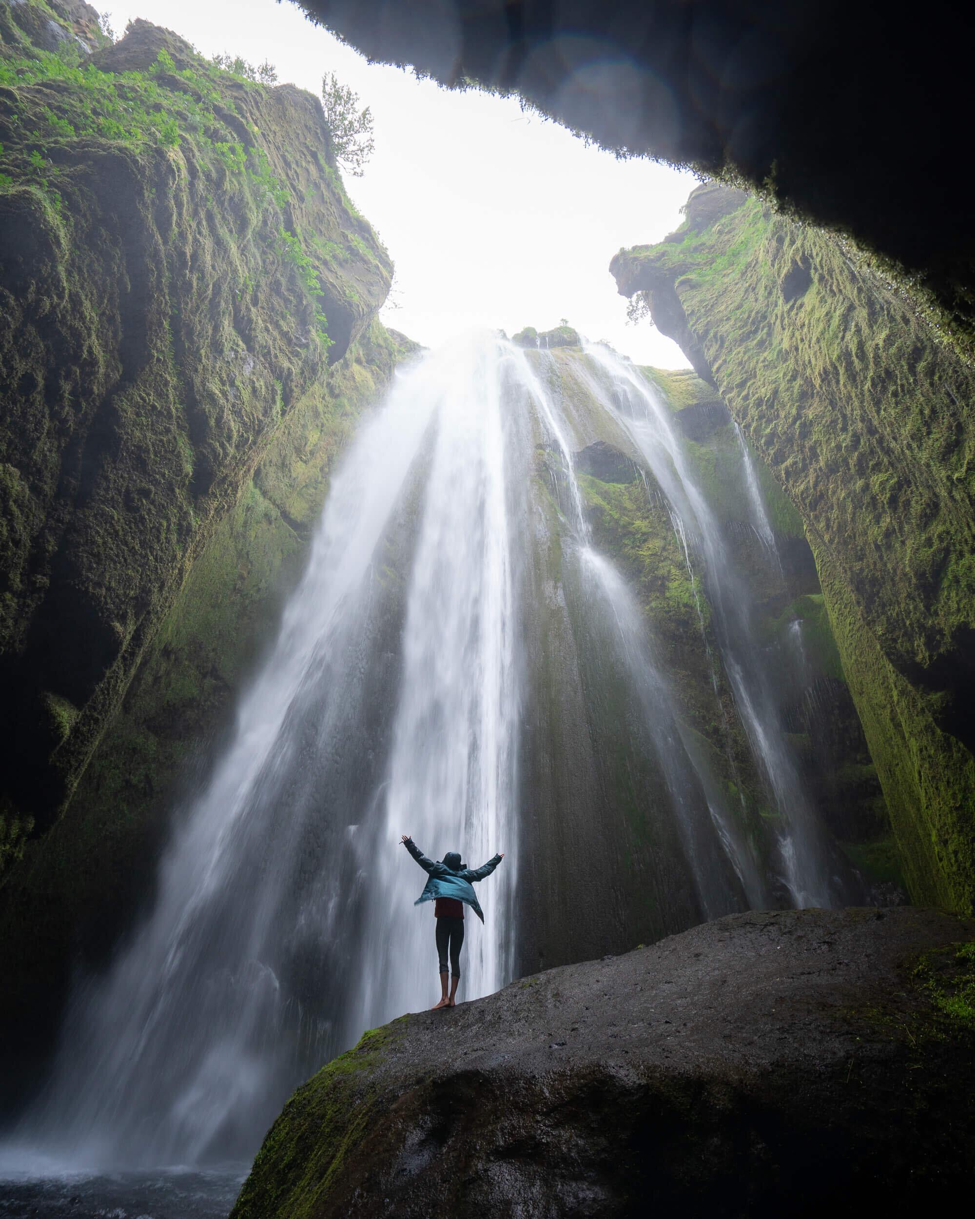 Gljúfrabúi waterfall in Iceland.