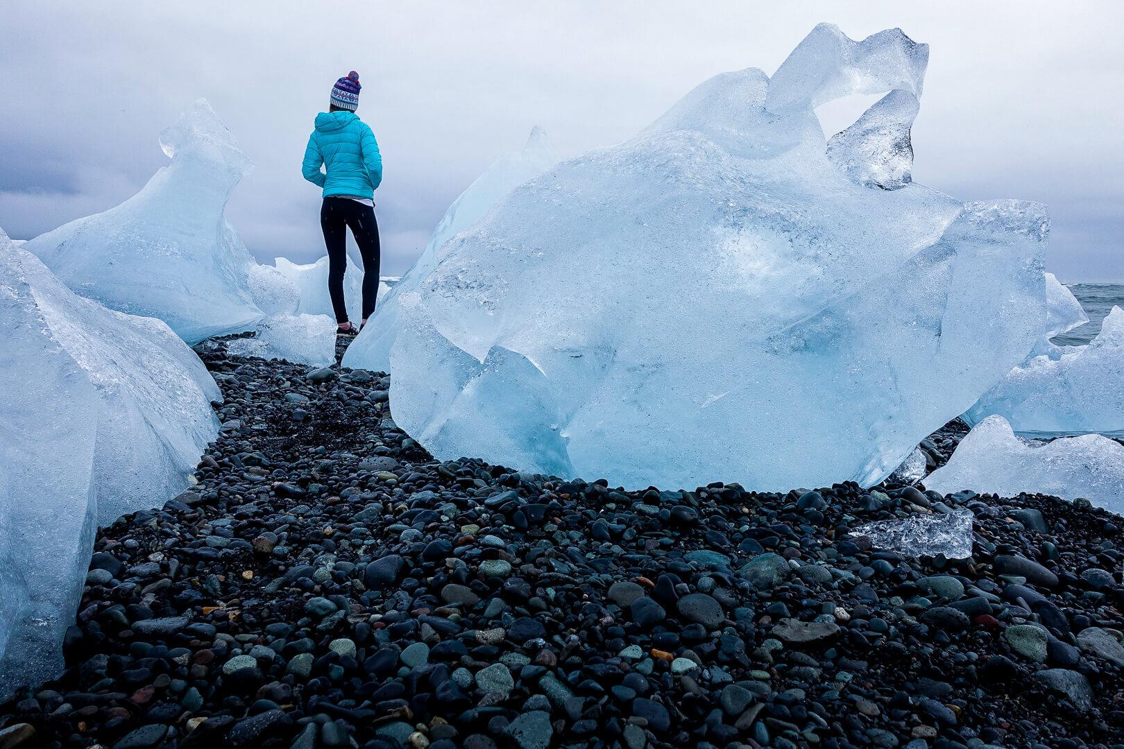Jökulsárlón or Diamond Beach in Iceland.