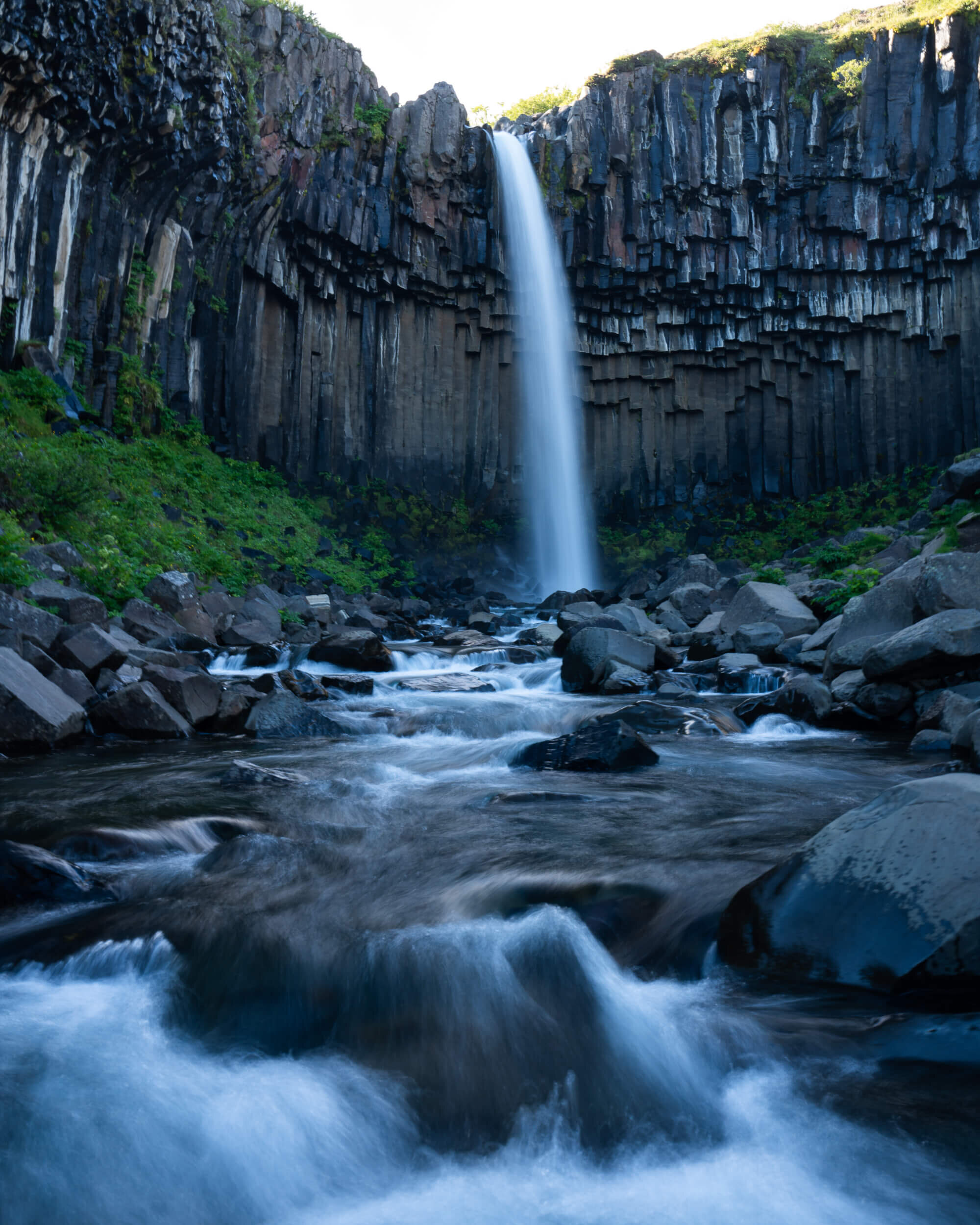 A short hike in Skaftafell National Park will take you to Svartifoss Waterfall with its famous basalt columns.