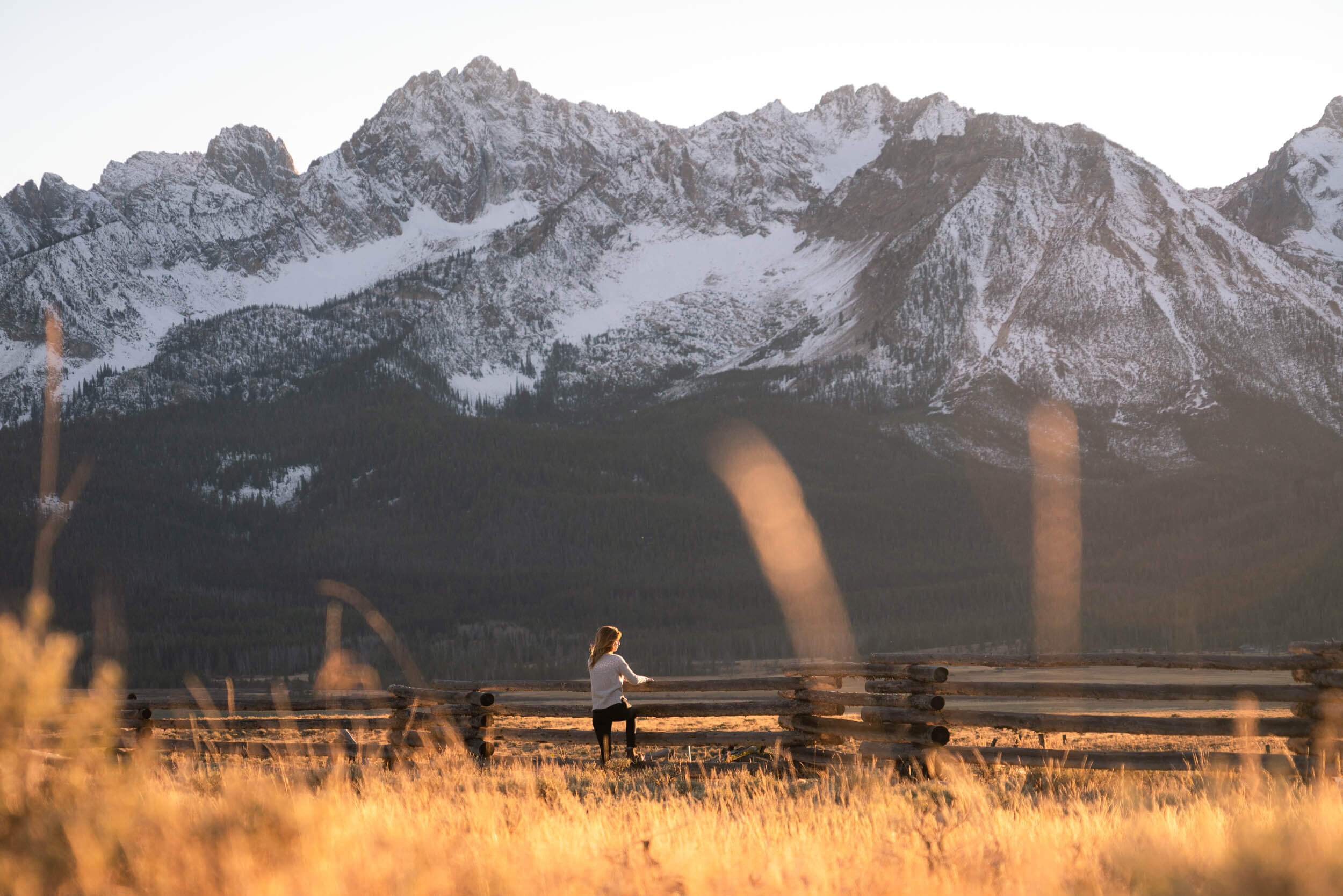 Taking in views of the Sawtooth Mountains from Stanley, Idaho.