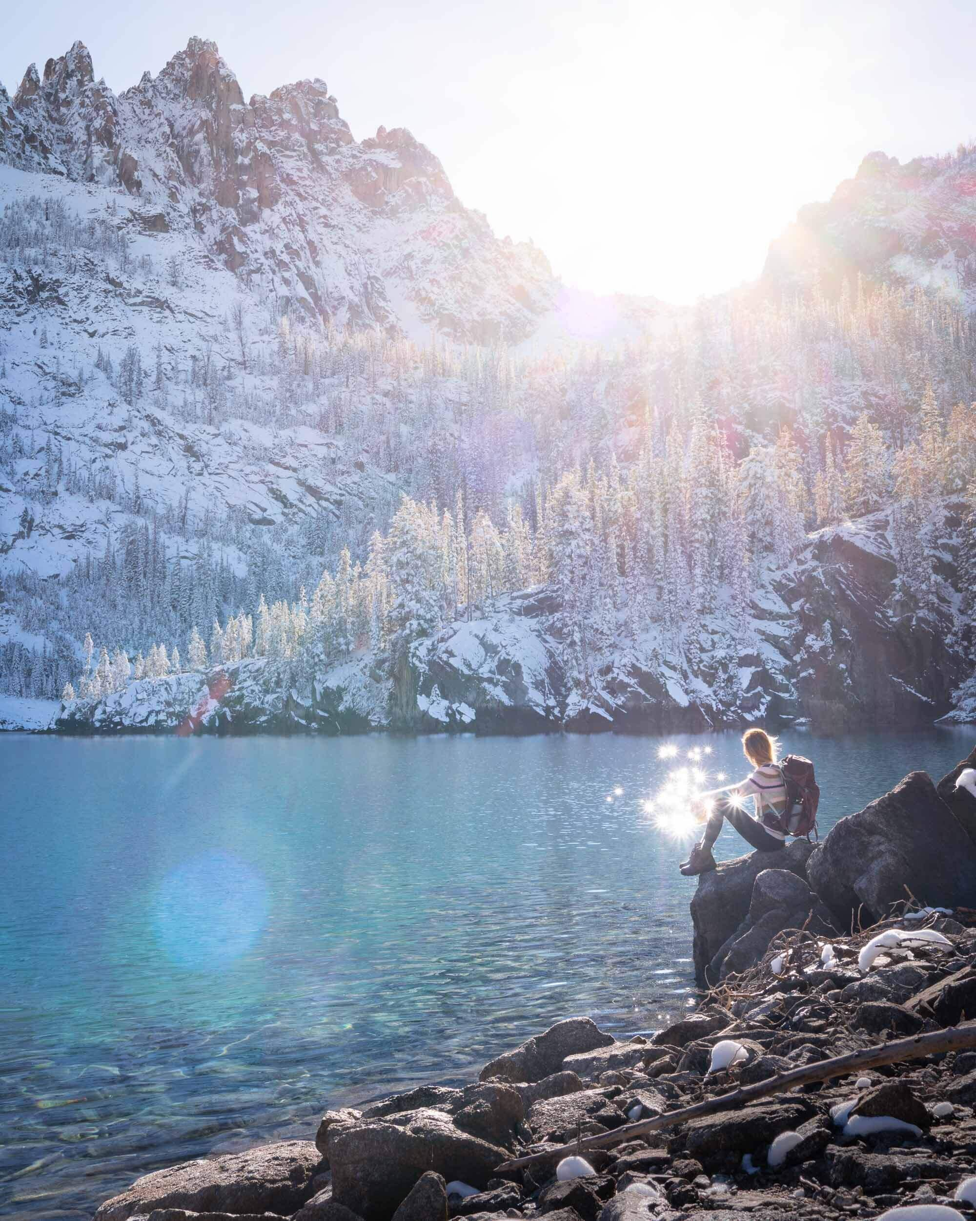 The Bench Lakes are a chain of five small alpine glacial lakes in the Sawtooth Mountains. The trail is beautiful and starts near the Redfish Lake Lodge.