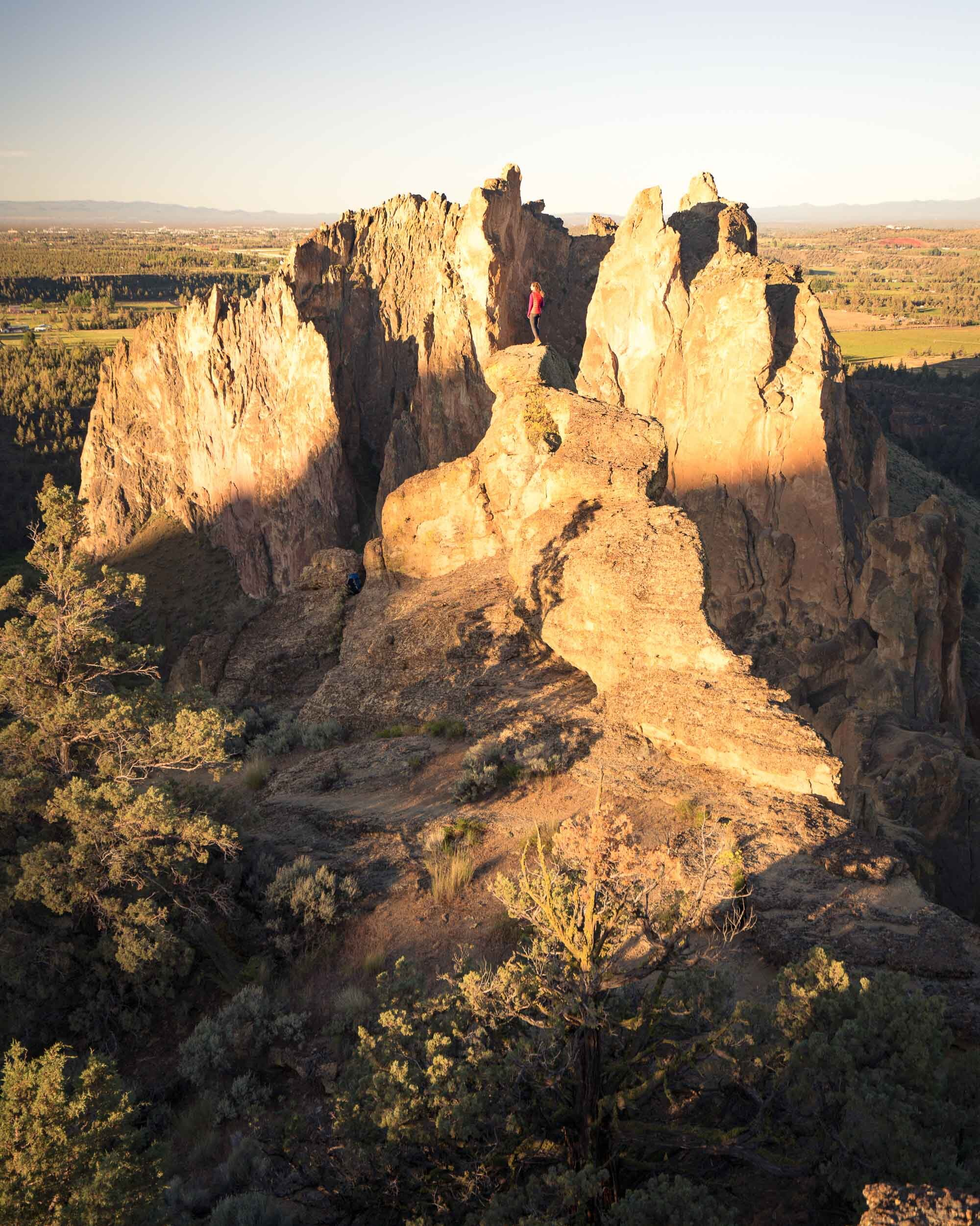 Sunrise at Smith Rock State Park.