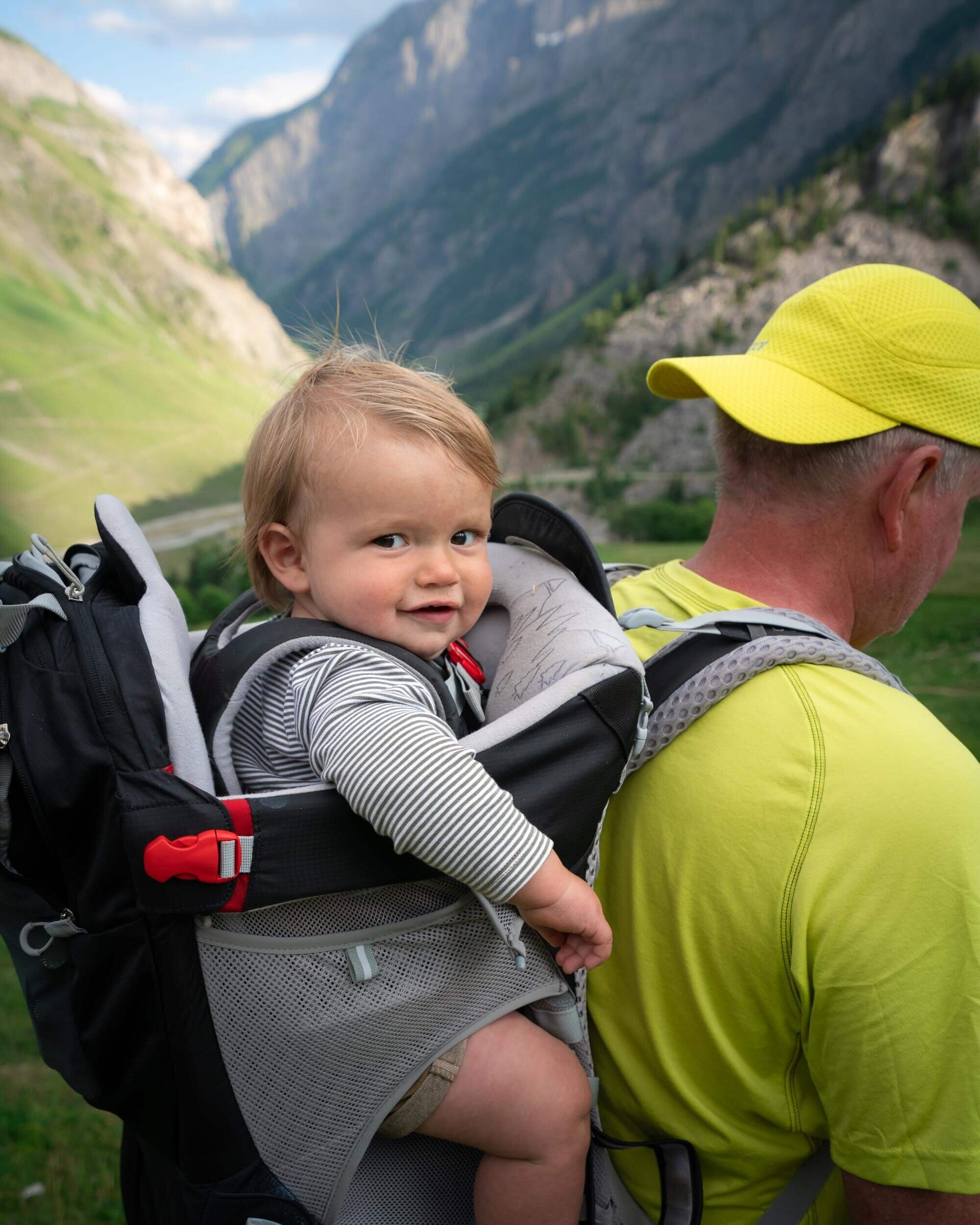 My nephew settling into trail life!