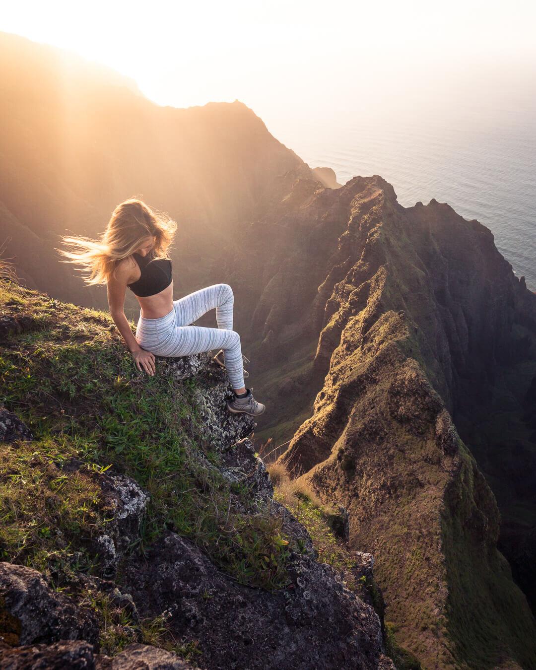 Kauai has a ton of amazing ridge hikes along the Na Pali Coast.