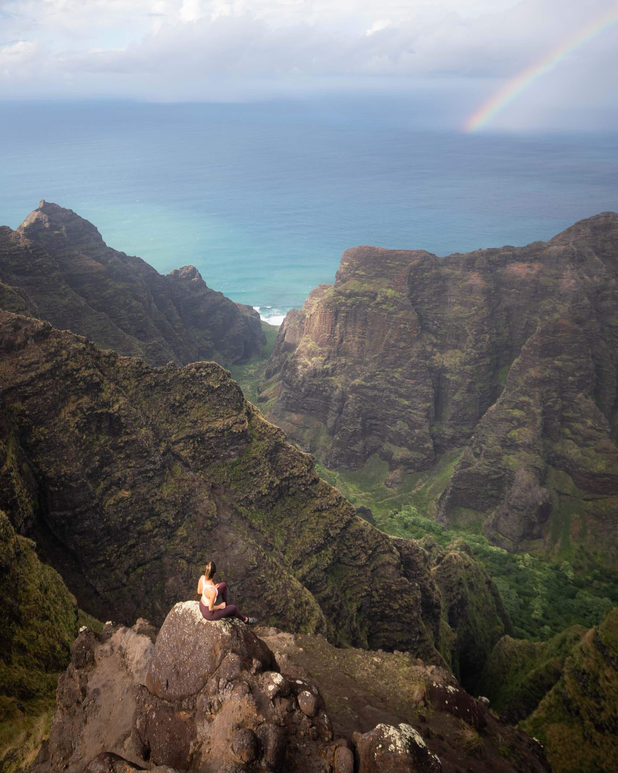 Koke'e State Park on Kauai is home to all sort of amazing hikes. You might even catch a rainbow or two!