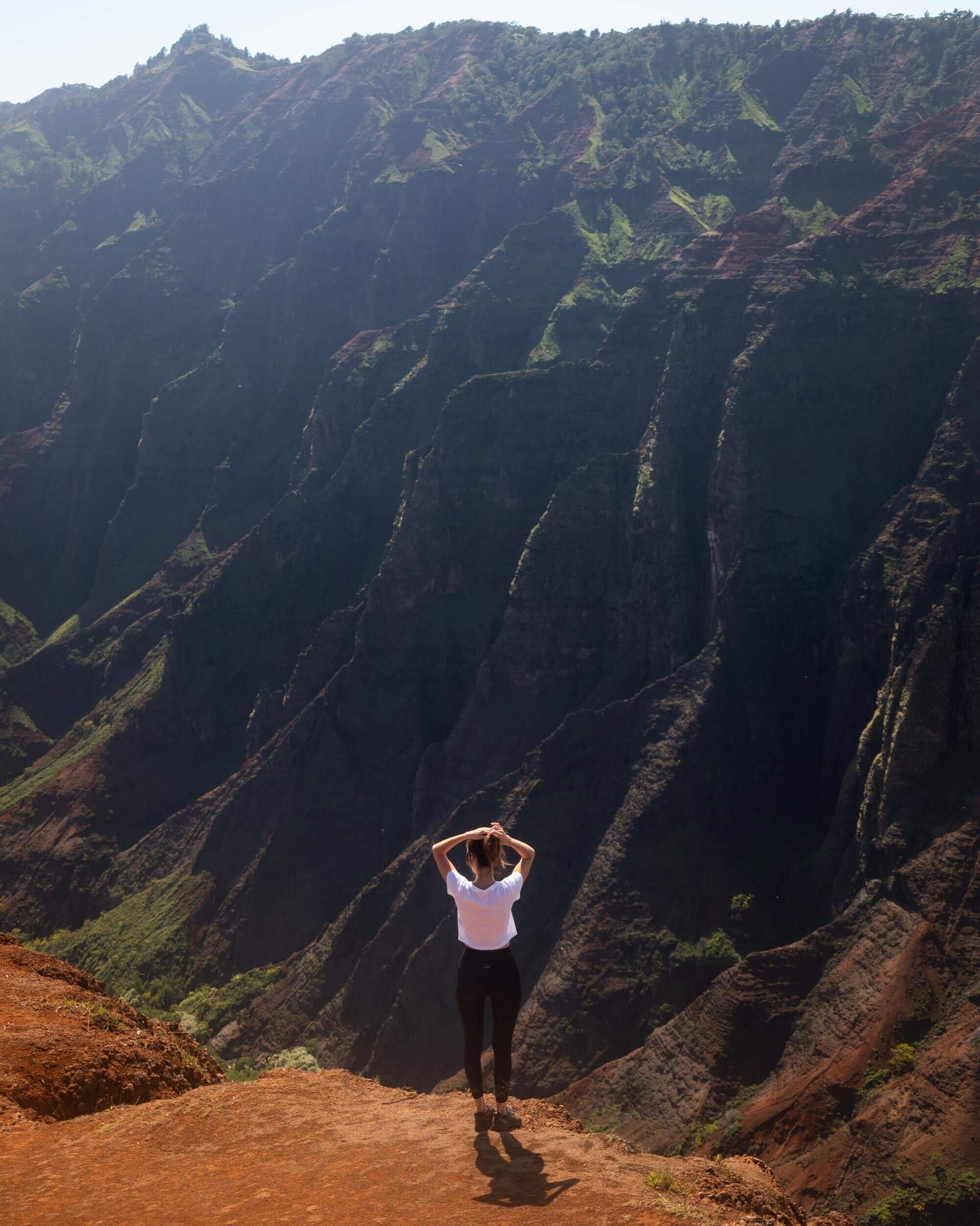 Views from Waipo'o Falls Trail on Kauai.