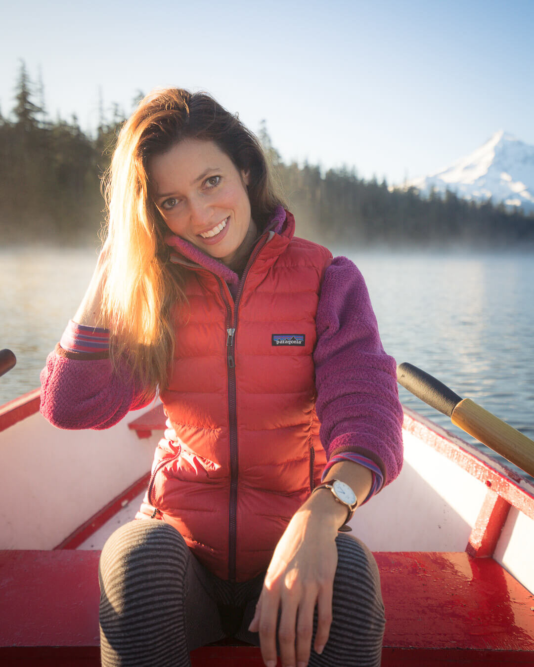 Patagonia has a long history of prioritizing sustainability in their outdoor clothing. Wearing:  Patagonia Down Sweater Vest  over the  Patagonia Re-Tool Snap-T Fleece Pullover .