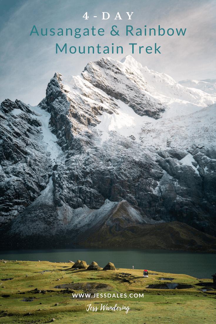 4-Day Ausangate and Rainbow Mountain Trek in Peru.