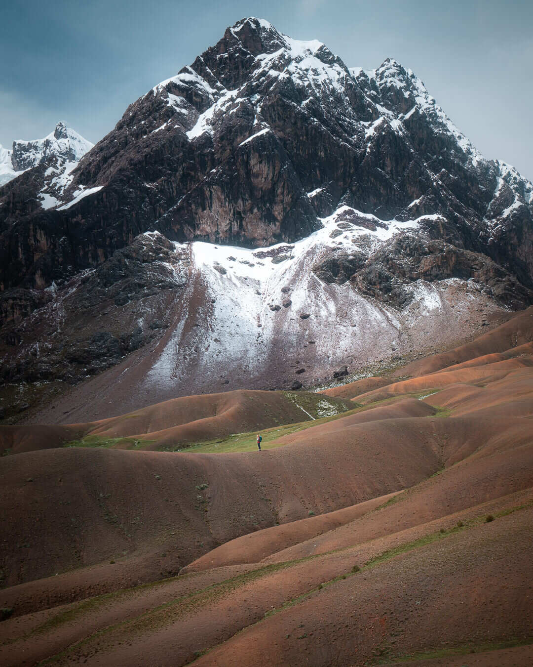 Mountain views on the second day of the Ausangate Trek in Peru.