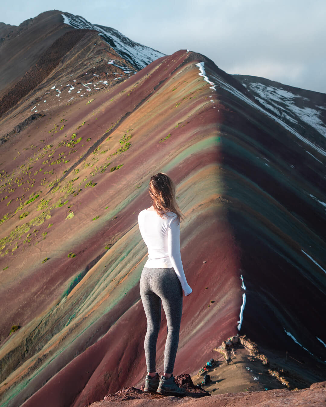 Rainbow Mountain in the morning after the fog cleared.