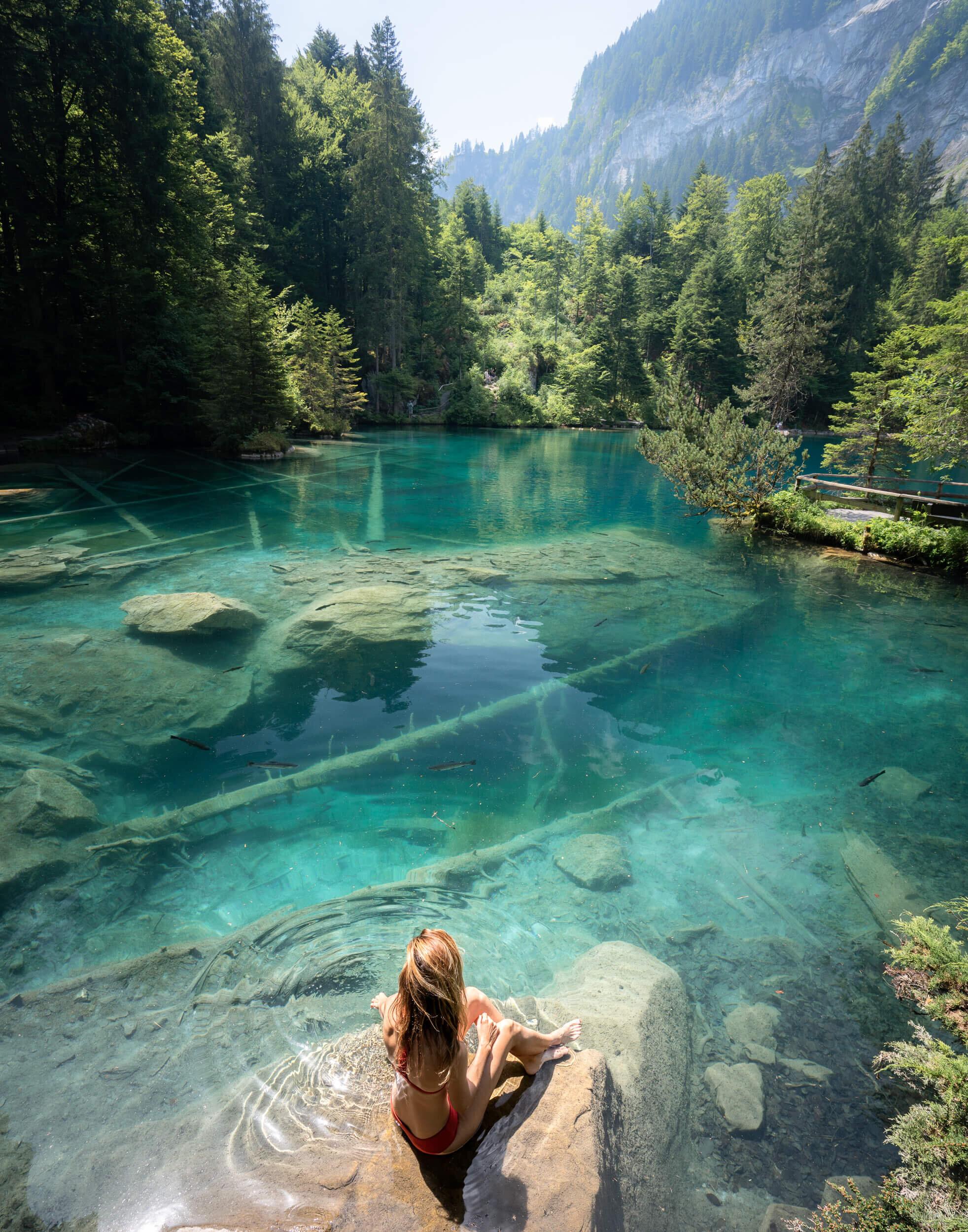 Blausee in Switzerland's Kander Valley.