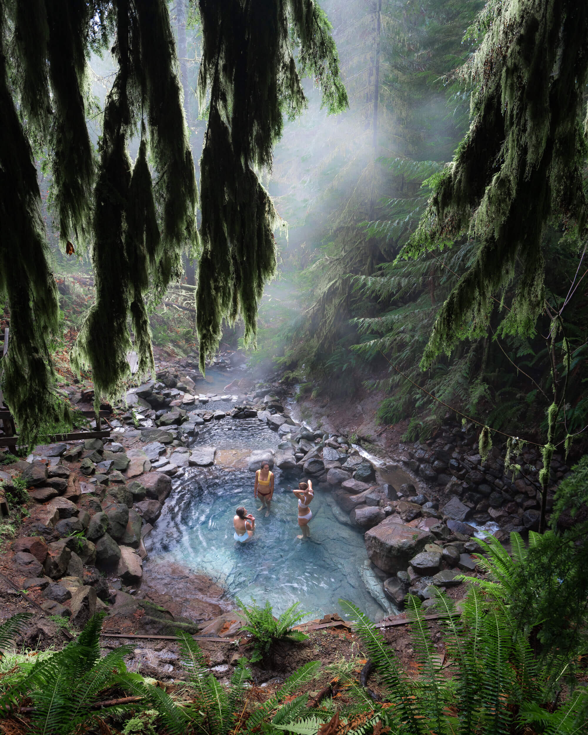 Ringing in the New Year at Cougar Hot Springs in Oregon.