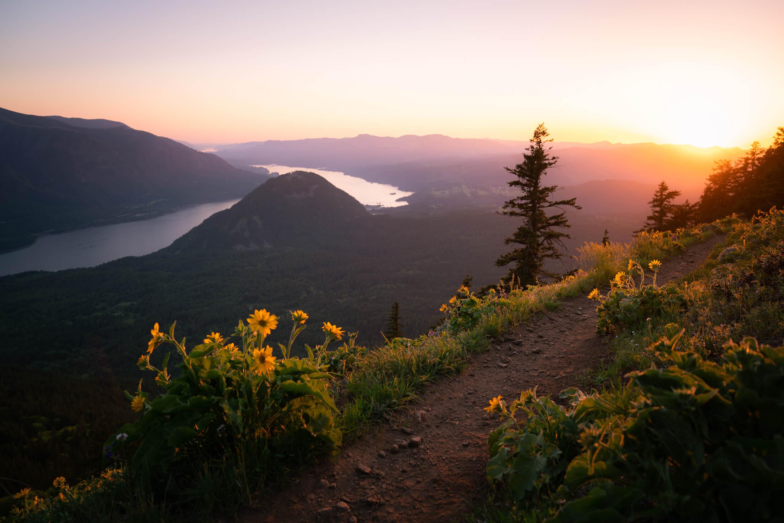 Sunset up at Dog Mountain.