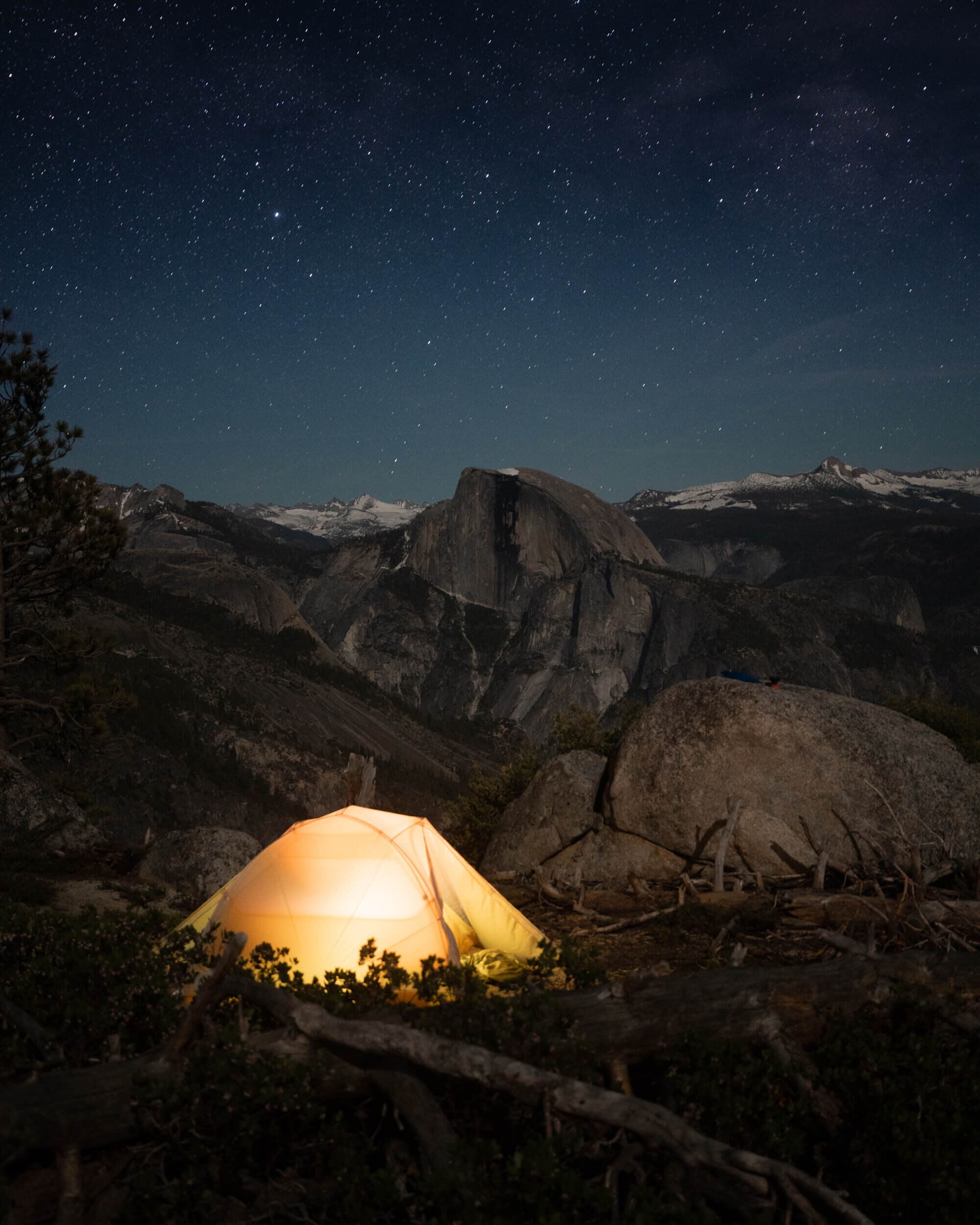 Sleeping under the stars in Yosemite National Park. Tent:  Big Agnes Tiger Wall UL2 Tent