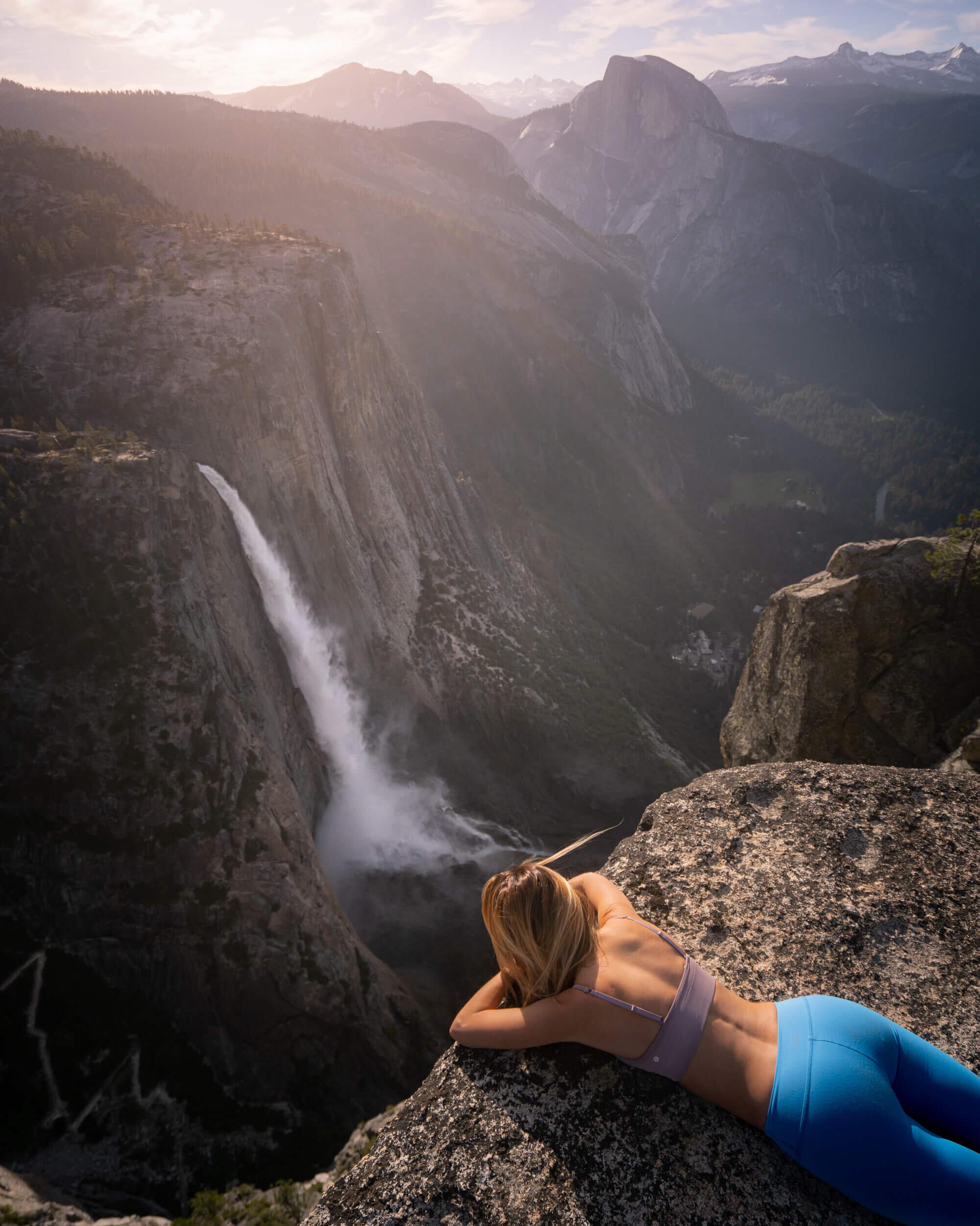 Looking down on Yosemite Falls.