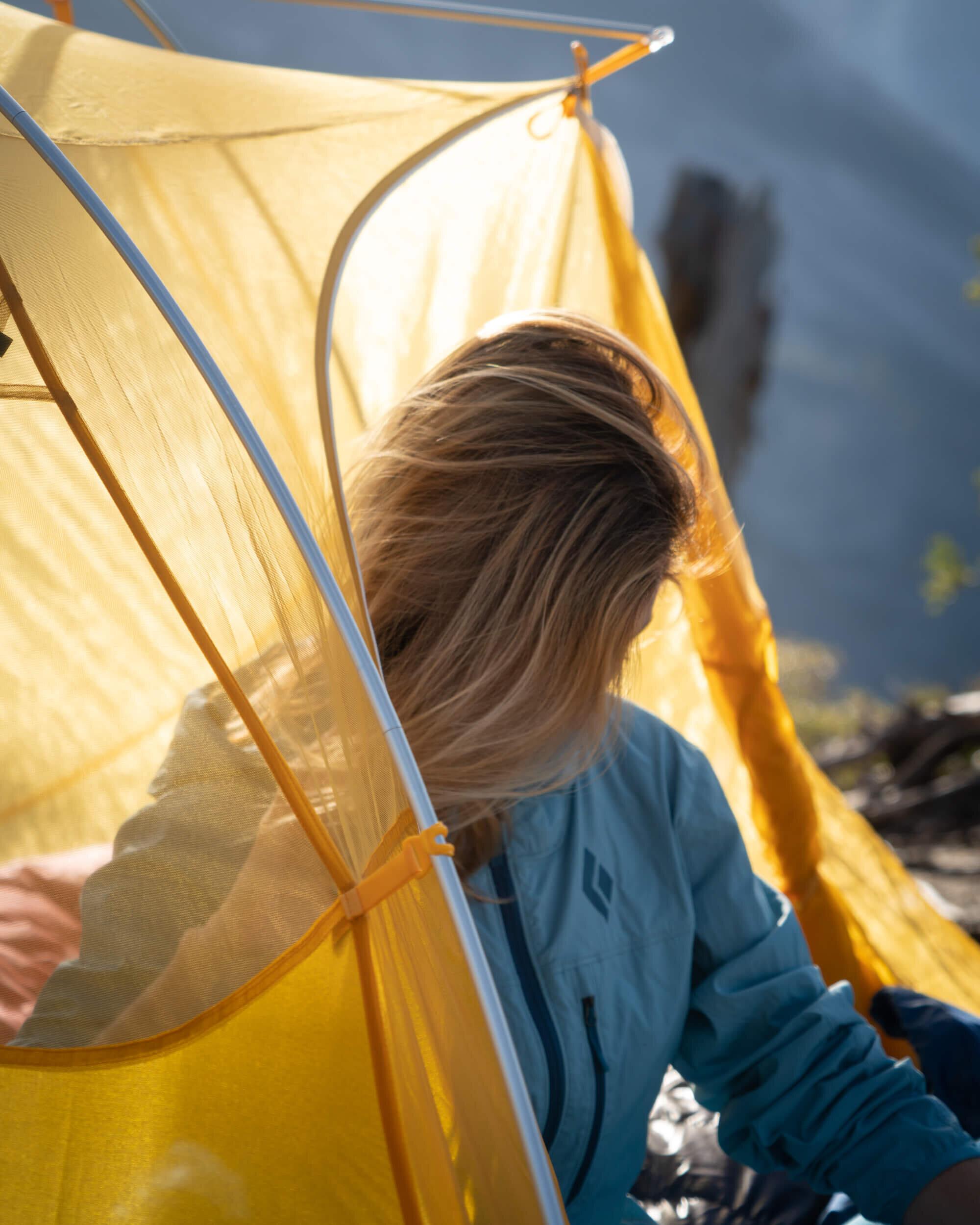 Camping in Yosemite National Park.