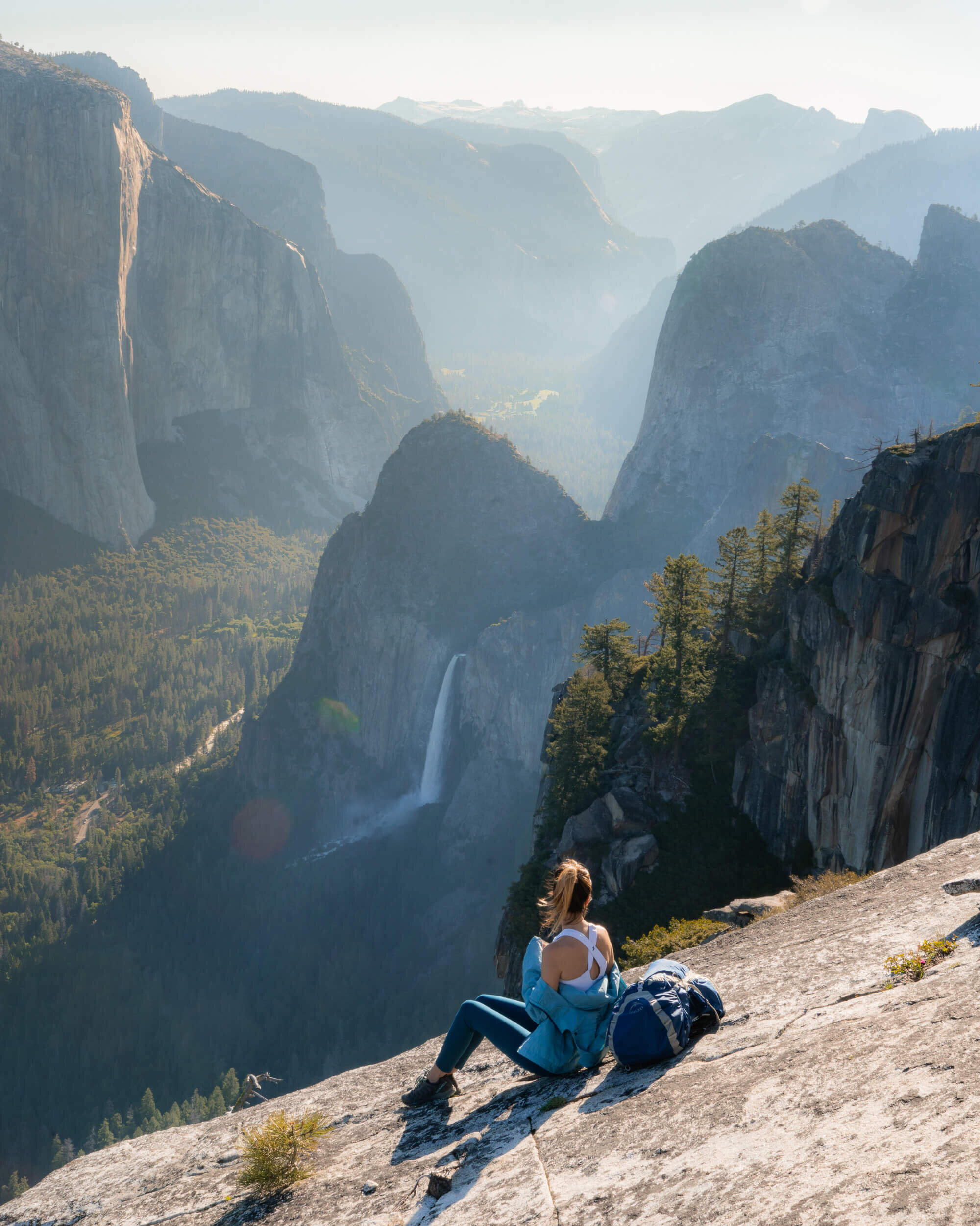 The Pohono Trail rewards hikers with stunning viewpoints of Yosemite Valley from the south rim.