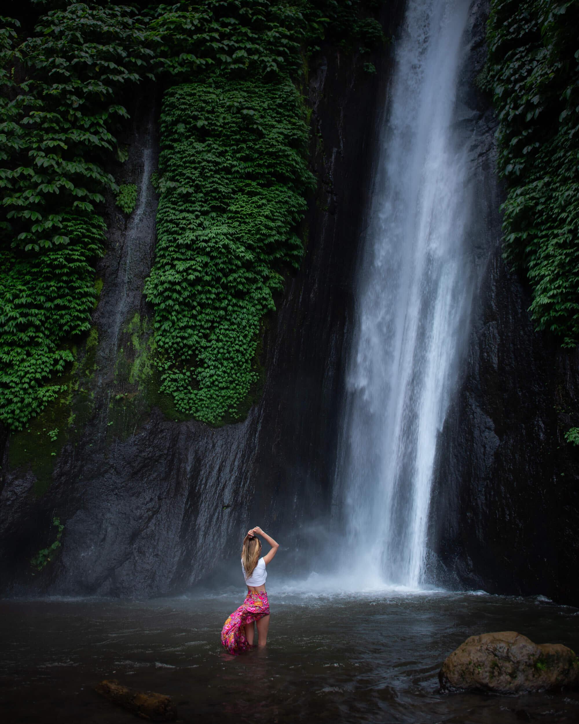 Waterfall in Bali. Photo by  Jess Bonde .