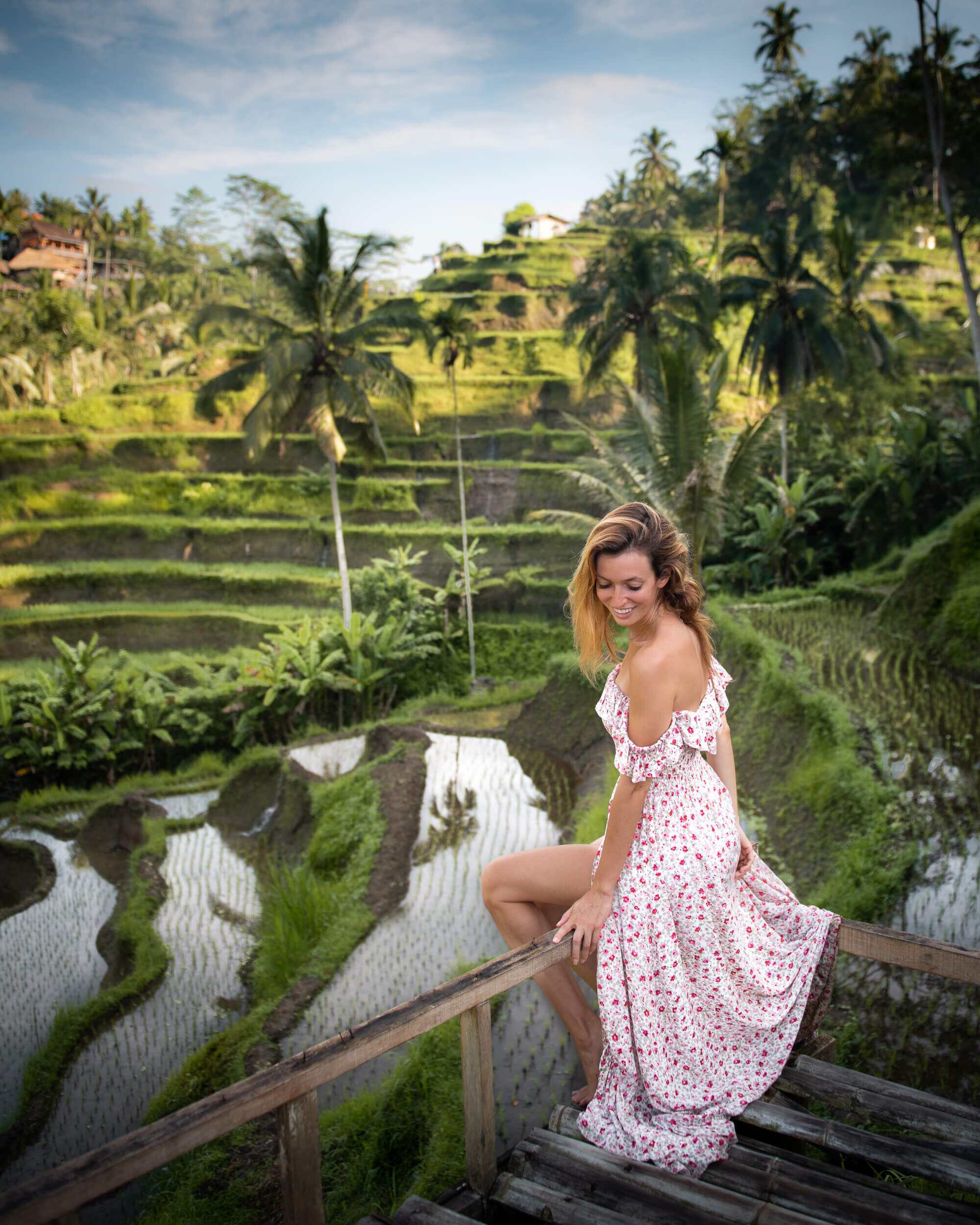 Exploring the rice terraces in Bali. Photo by:  Jess Bonde