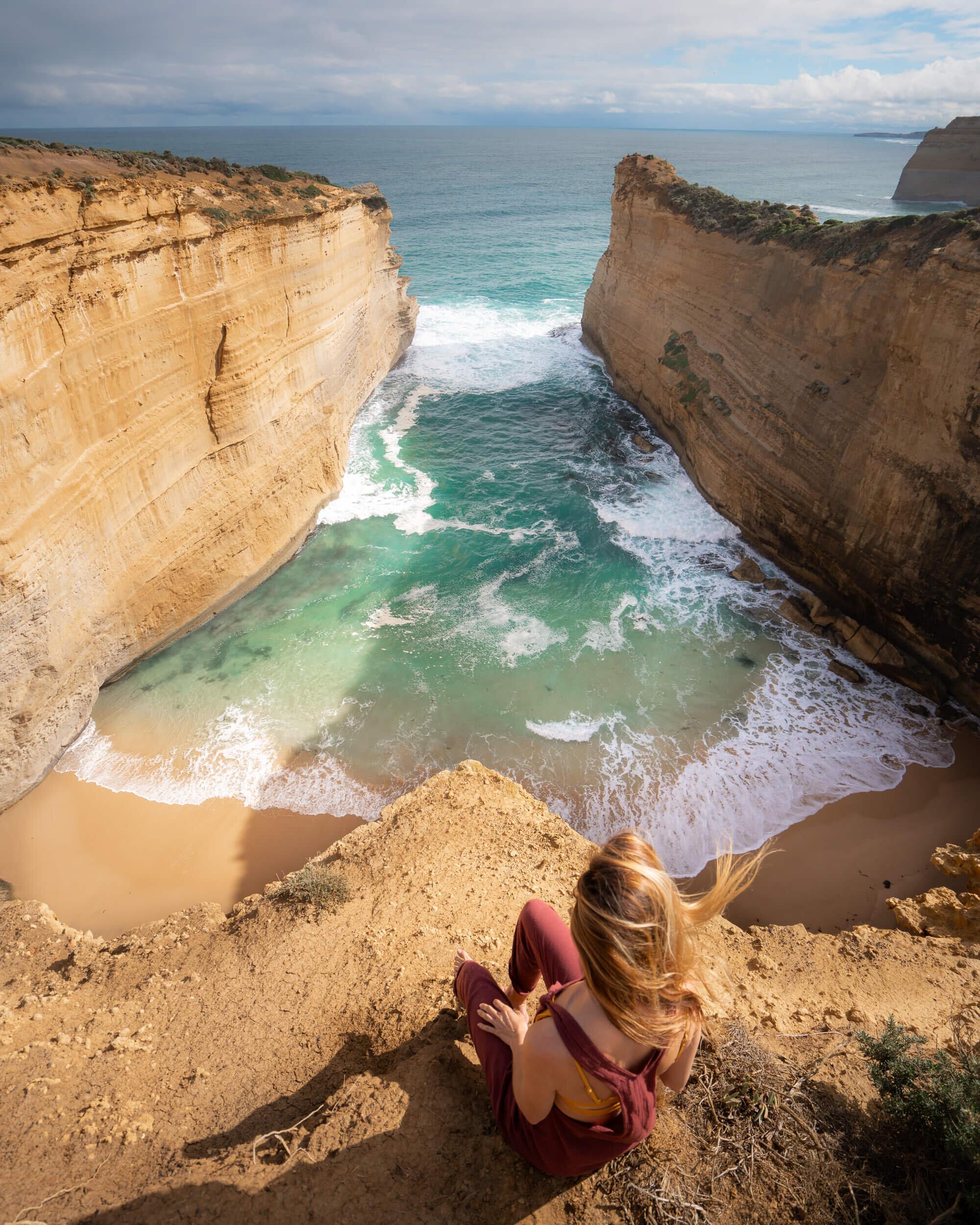 The views along Australia's Great Ocean Road are stunning! Wearing: L Space  Cali Girl Jumper ,  Olivia Bikini Top