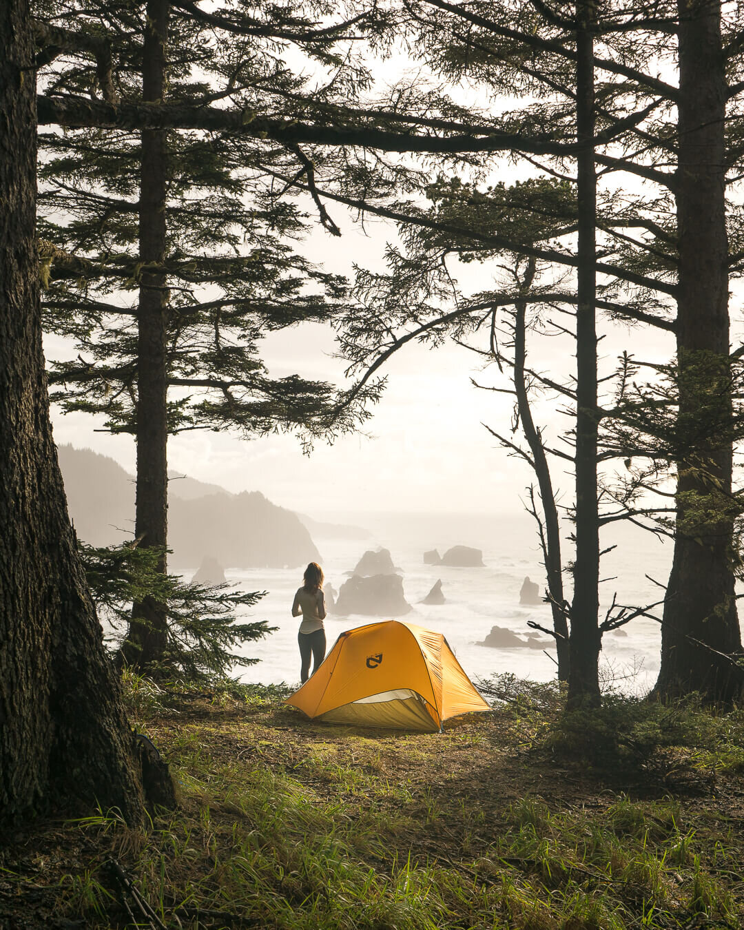 Camping on the coast.