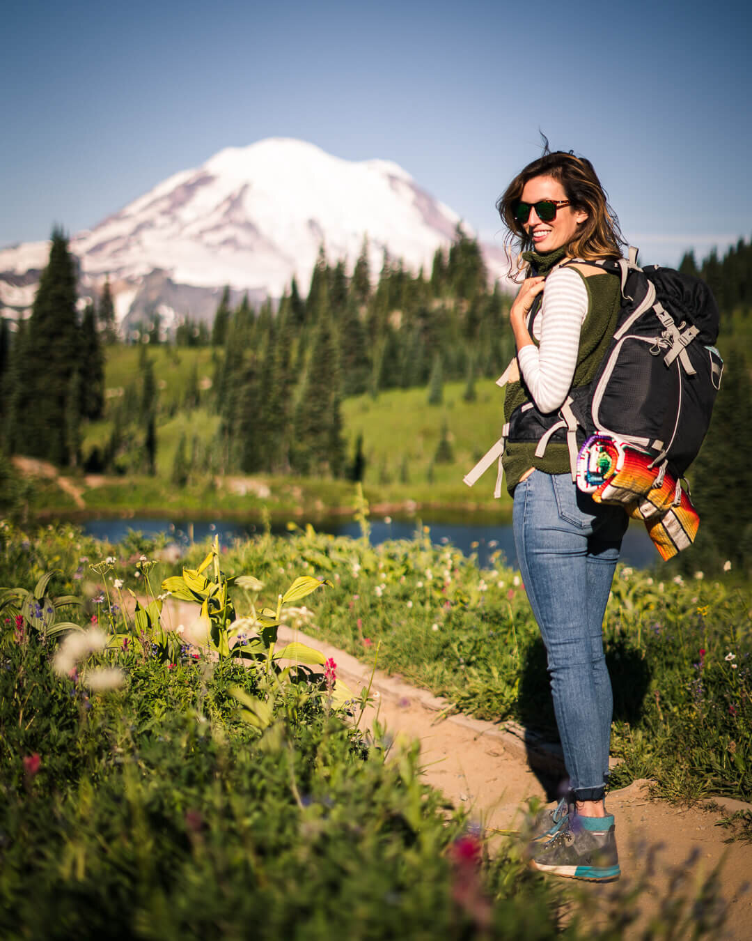 Hiking around Tipsoo Lake and Naches Loop Trail in late July when the wild flowers are at their peak.