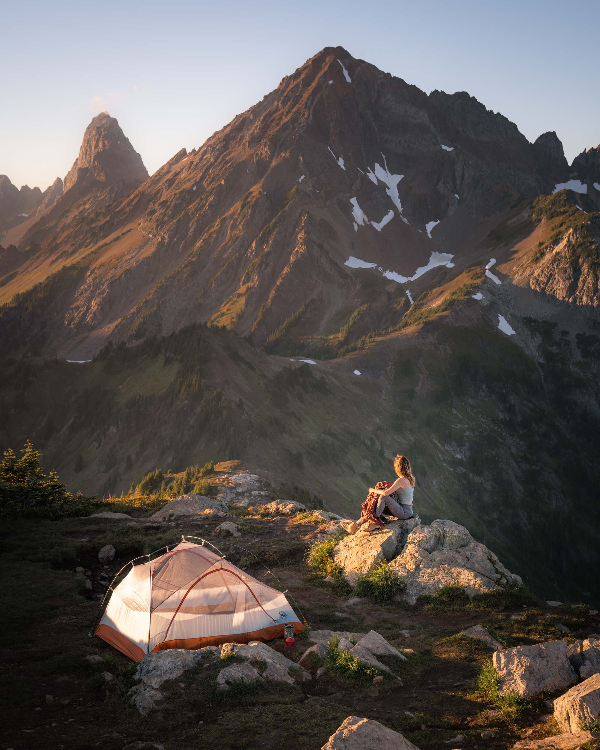Spending the night in the North Cascades, WA. Tent:  Big Agnes Copper Spur HV UL2 Tent .