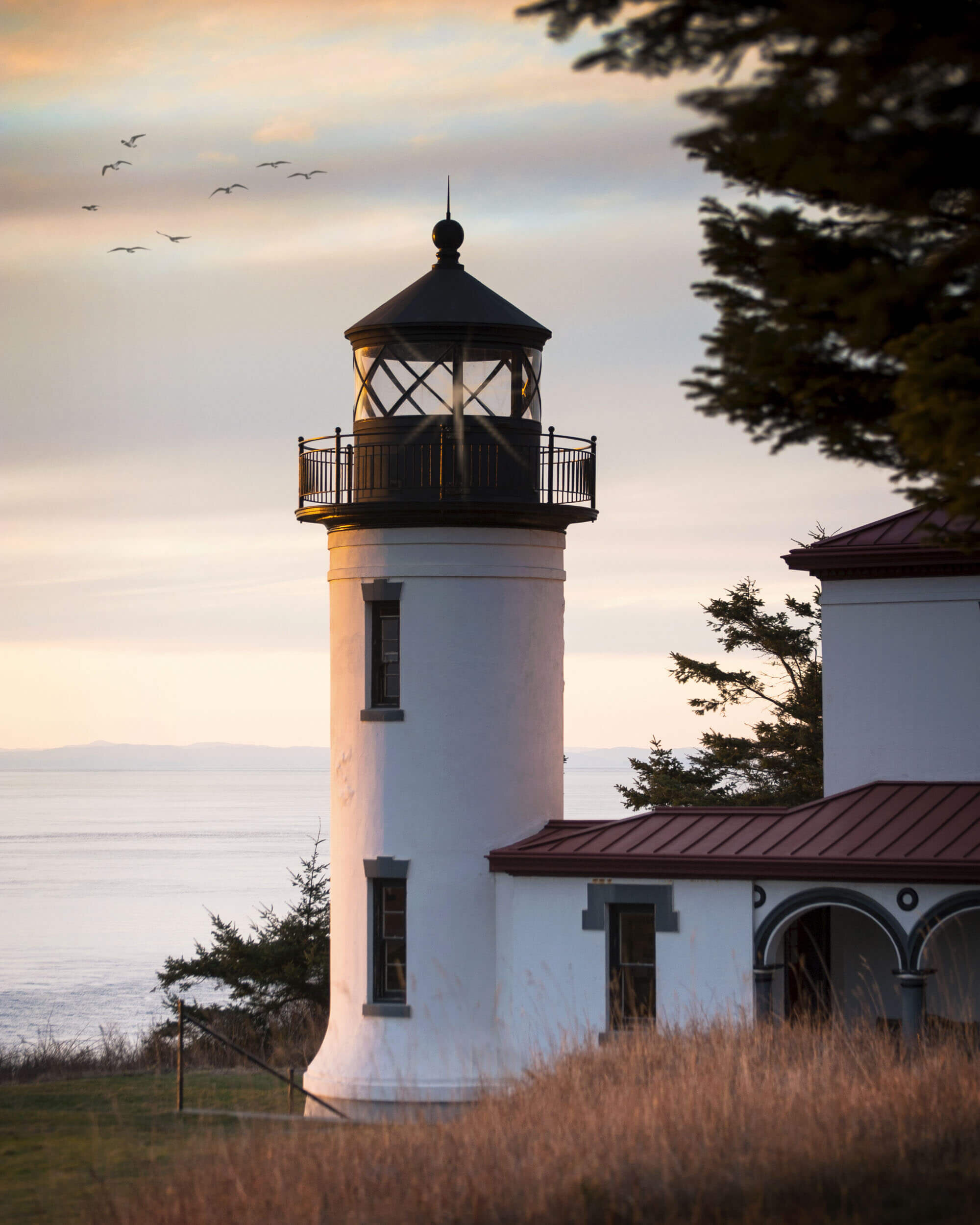 Admiralty Head Lighthouse is located in Fort Casey State Park and makes for a nice sunset subject.