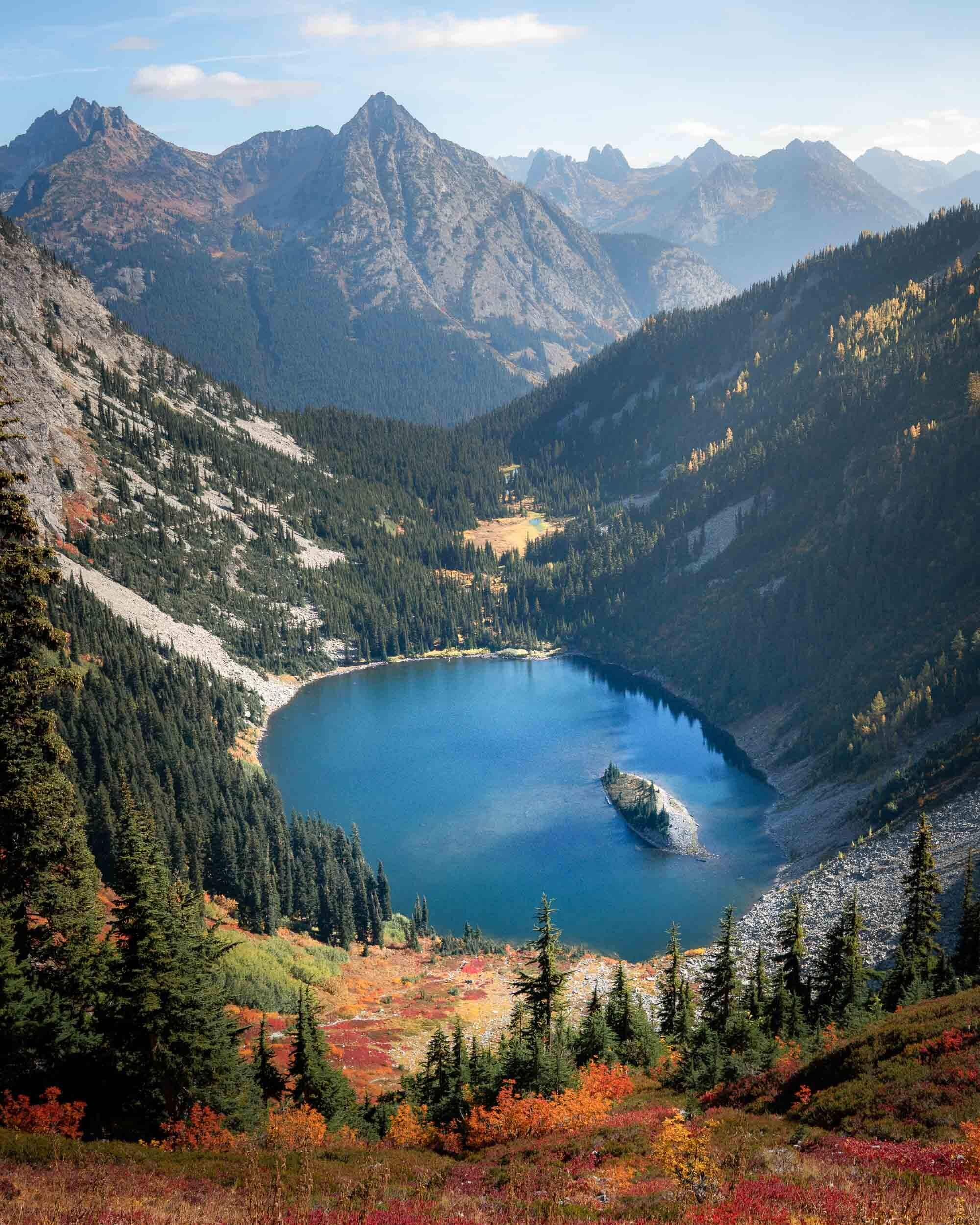 Maple Pass Loop is a classic Washington hike in The North Cascades. It's particularly beautiful in the fall.