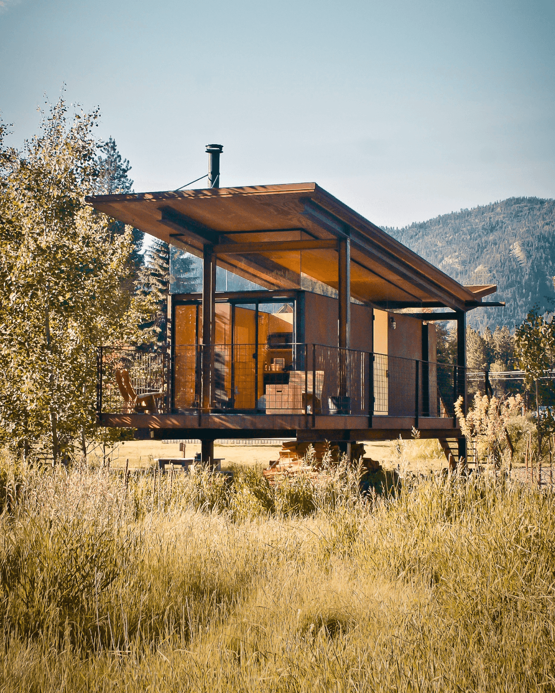 The Rolling Huts are unique tiny homes you can stay in just outside of Mazama.