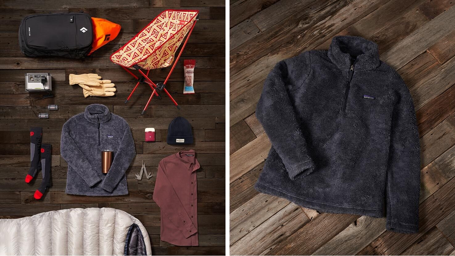Shown in  Backcountry  Photos:   Helinox Camp Chair   ,    Marmot Basic Work Glove   ,   Backcountry Granite Beanie  ,    Patagonia Los Gatos Jacket   ,   Backcountry Fendler Flannel  , and   Leatherman Rebar Multi-Tool  .