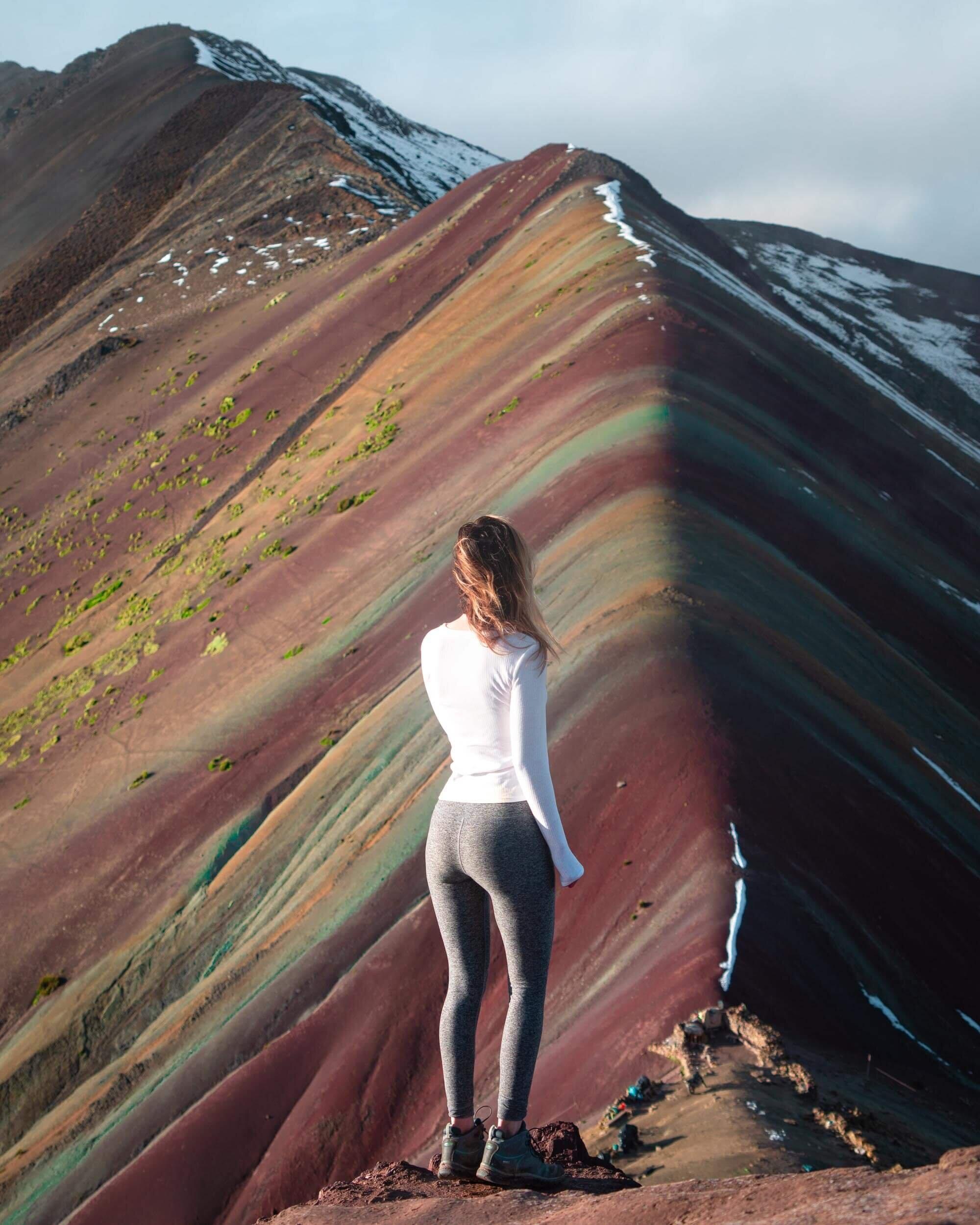Jess Wandering at Rainbow Mountain, Peru.
