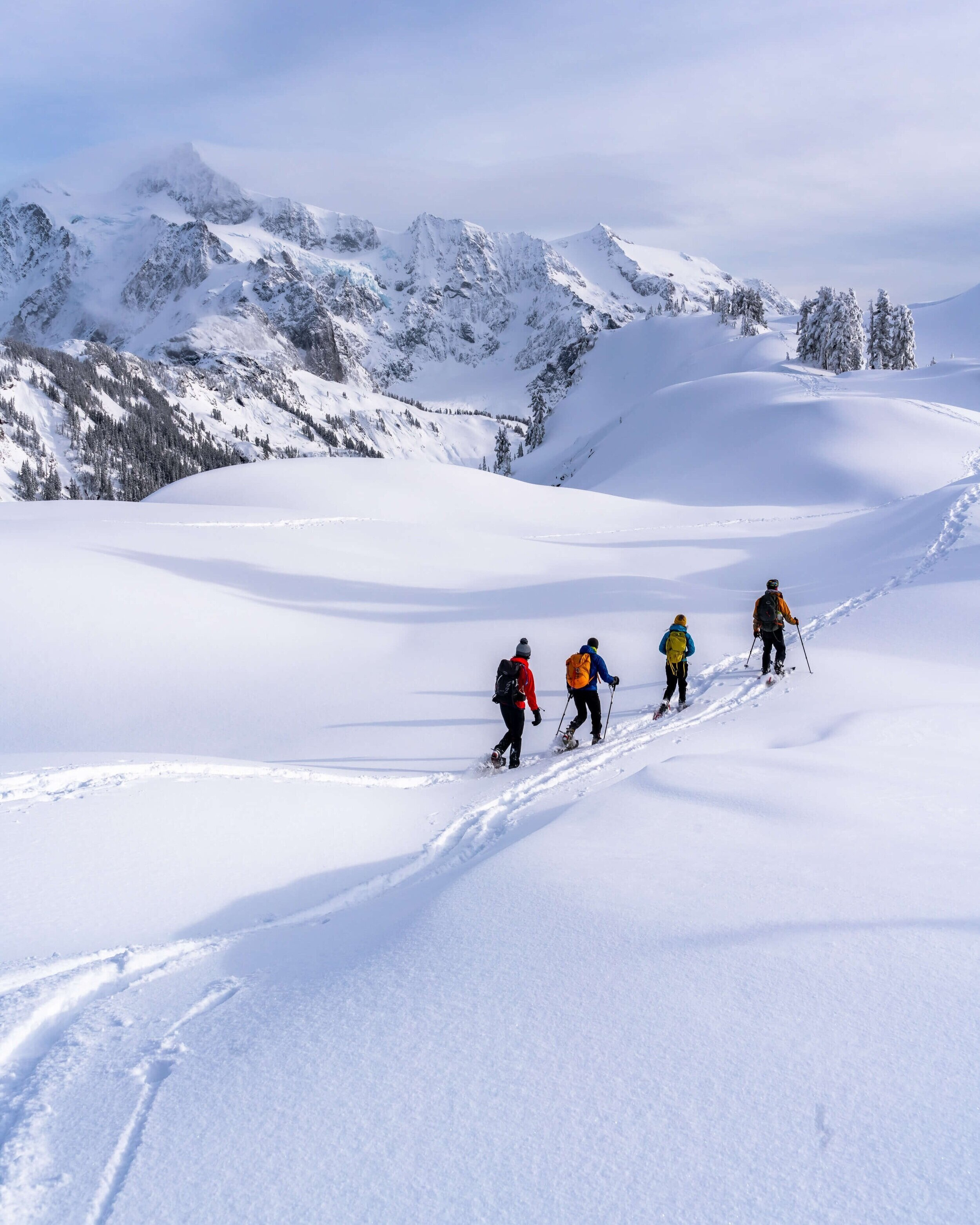 Artists Point at Mount Backer is one of Washington's best snowshoeing destinations. Photo by  Josh Steele .