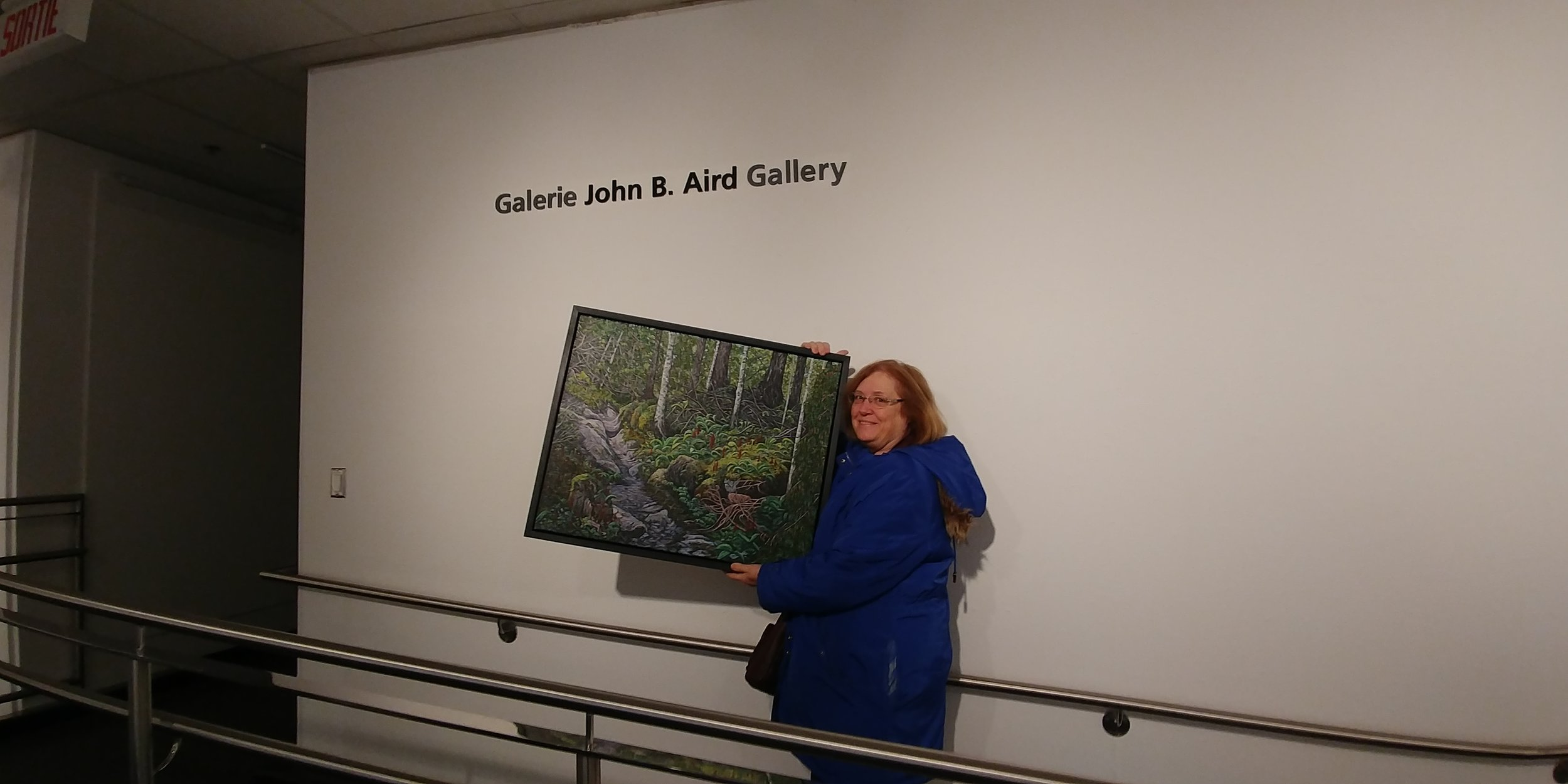 "Successfully delivered my painting titled ""Gully"" to the  John B Aird Gallery  to be shown in the  Ontario Society of Artists 145 Annual Juried show . Felt very honoured to have been selected and it was a wonderful exhibition.   SOVA  has a new exhibition up at the  Joseph D. Carrier Gallery , in the Columbus Centre.  The opening reception was a great success, and a lot of people attended, which was nice because there is always a lot of work involved in setting up a show. This exhibition continues until May 28th."