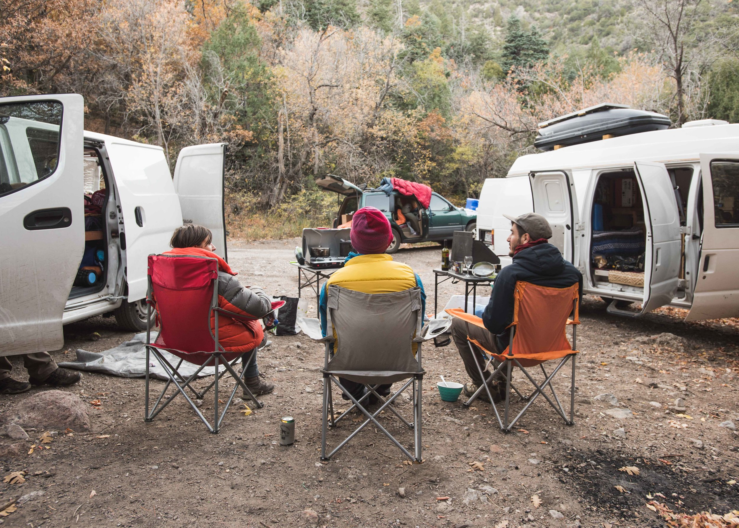 Car camping on the backside of the Sandias