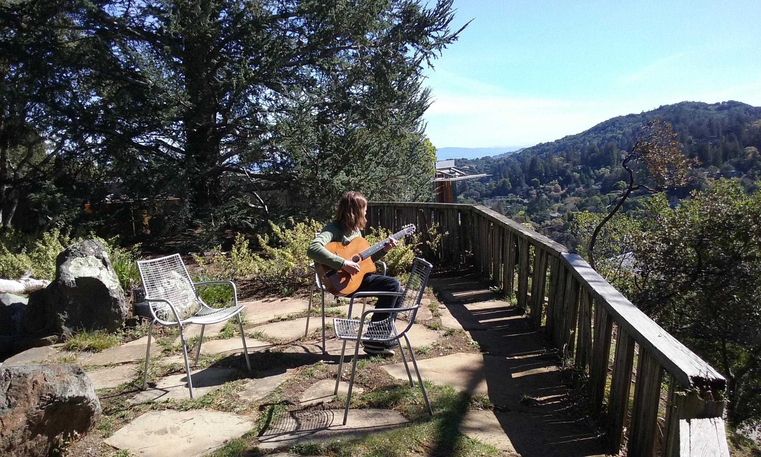 Javi Jimenez enjoying the view between takes