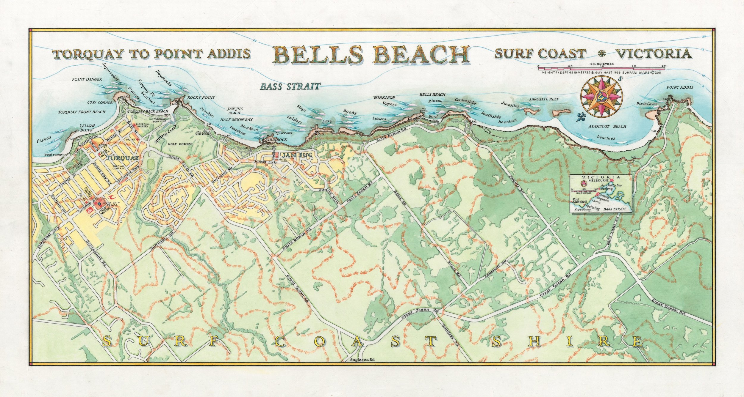 Bells Beach Surf Map