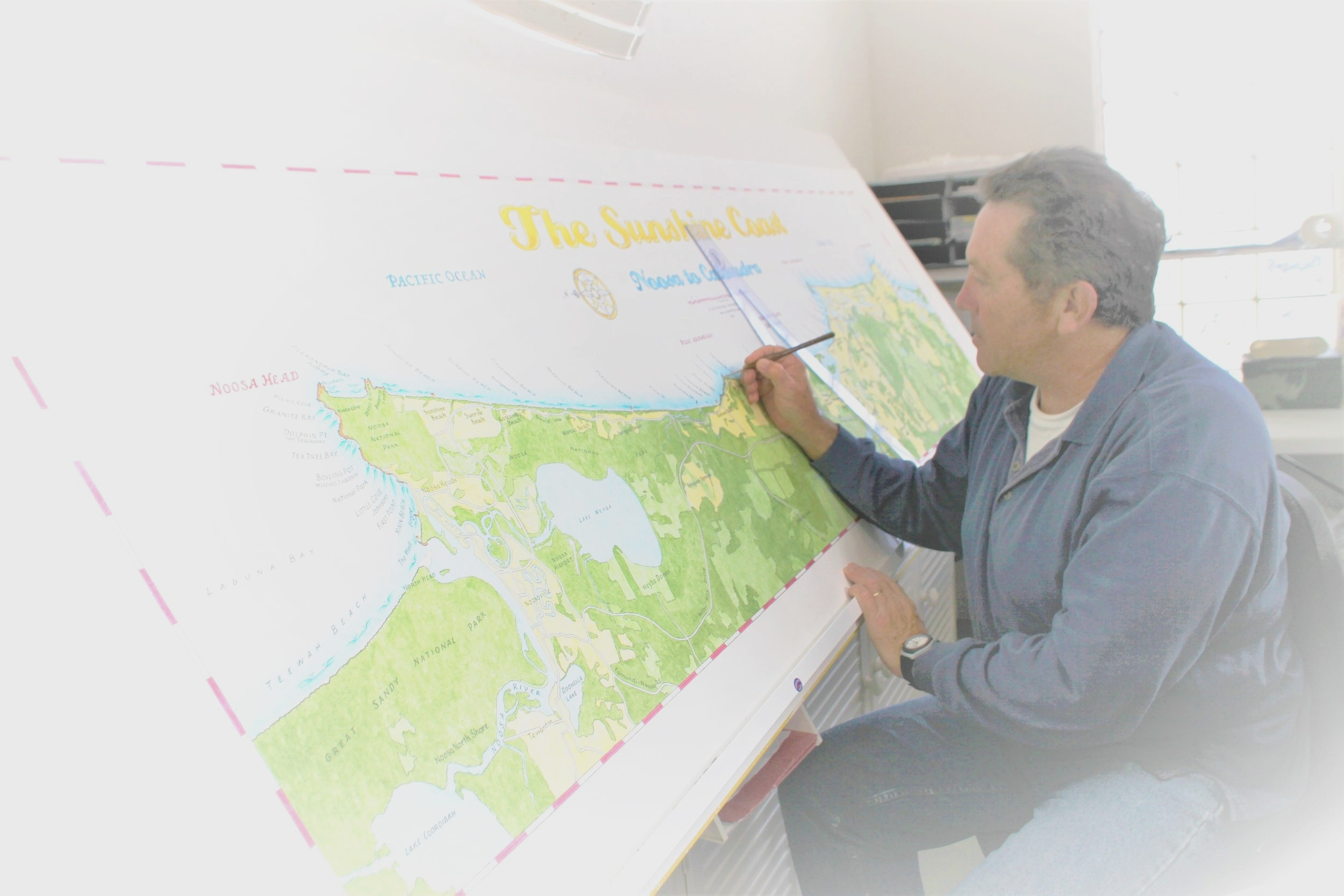 Handmade Surf Maps by Guy Hastings - Over 100 hours per map to create the most detailed surf charts from around the world.
