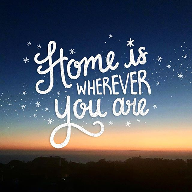 Who ever you are with or wherever you are. It feels like home. ❄️✨ . . #graphicdesign #graphicdesigner #dailytype #homeiswhereveryouare #sunset #happyholidays #lettering #illustrator #photography #sanfrancisco #bayarea #lovematters #handlettering #christmas #holidayfeels #photoshop #creative #lovedesign