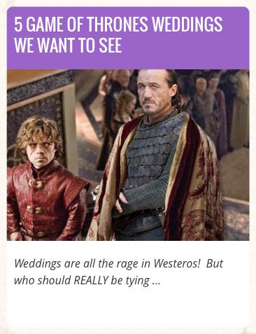 Game of Thrones Weddings