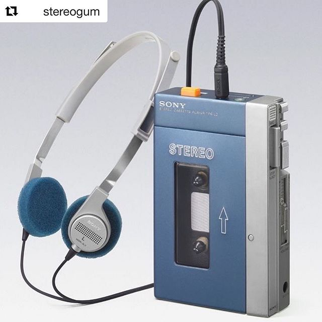 Happy birthday Walkman! 🎂. #Repost @stereogum  The first Sony #Walkman was released 40 years ago today. 🎧 The silver-and-blue TPS-L2 (as seen in 'Guardians Of The Galaxy') actually had two earphone jacks: when a listener pushed the orange button, two people could communicate through a microphone. Sony co-founder Akio Morita had included this feature because he was wary of the device's isolating nature.