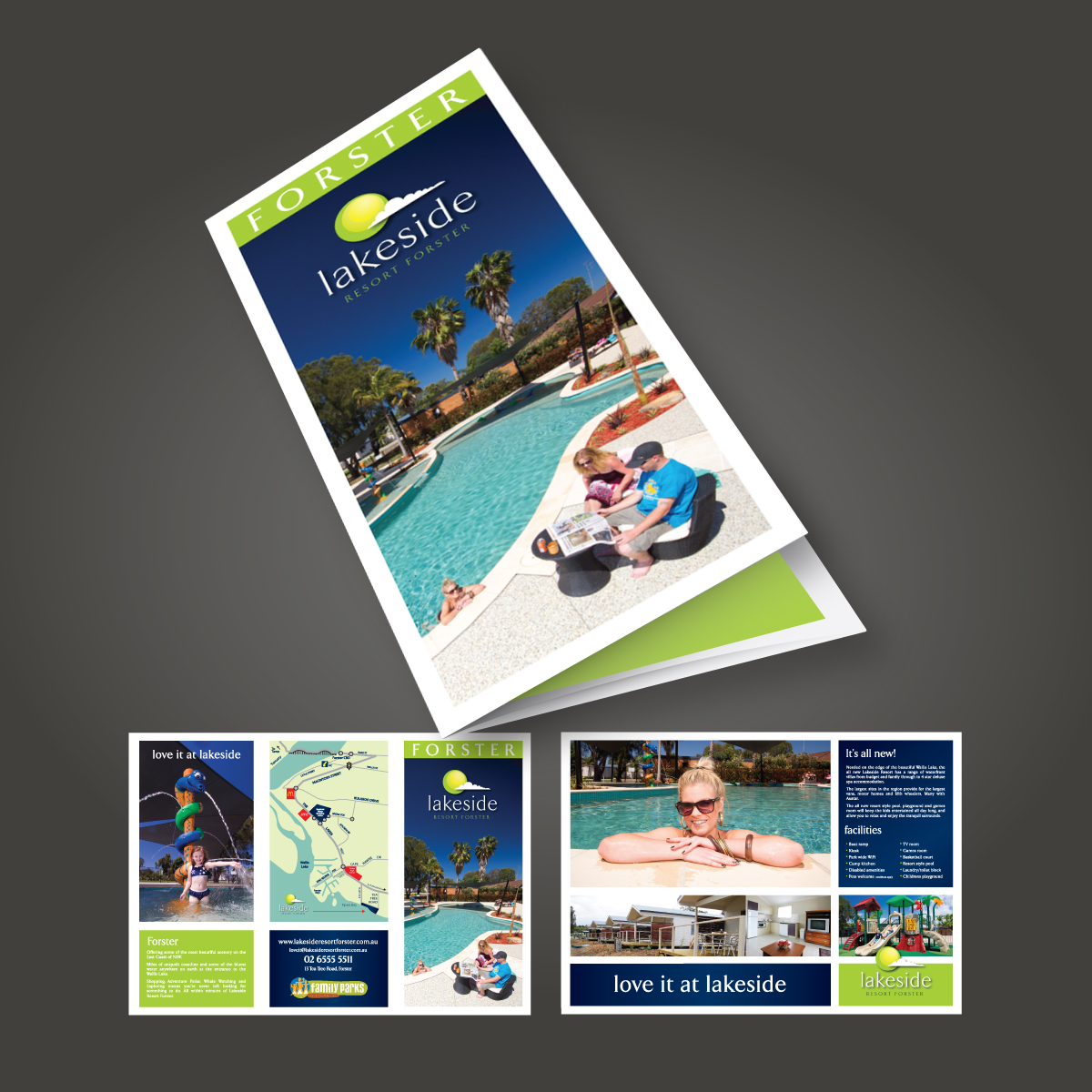 Lakeside Resort Brochure Design
