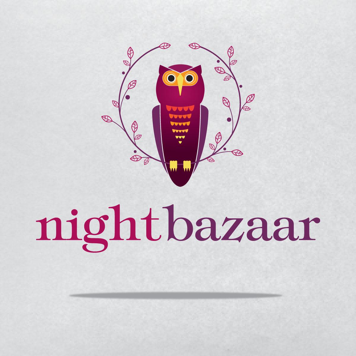 Night Bazaar Logo Design