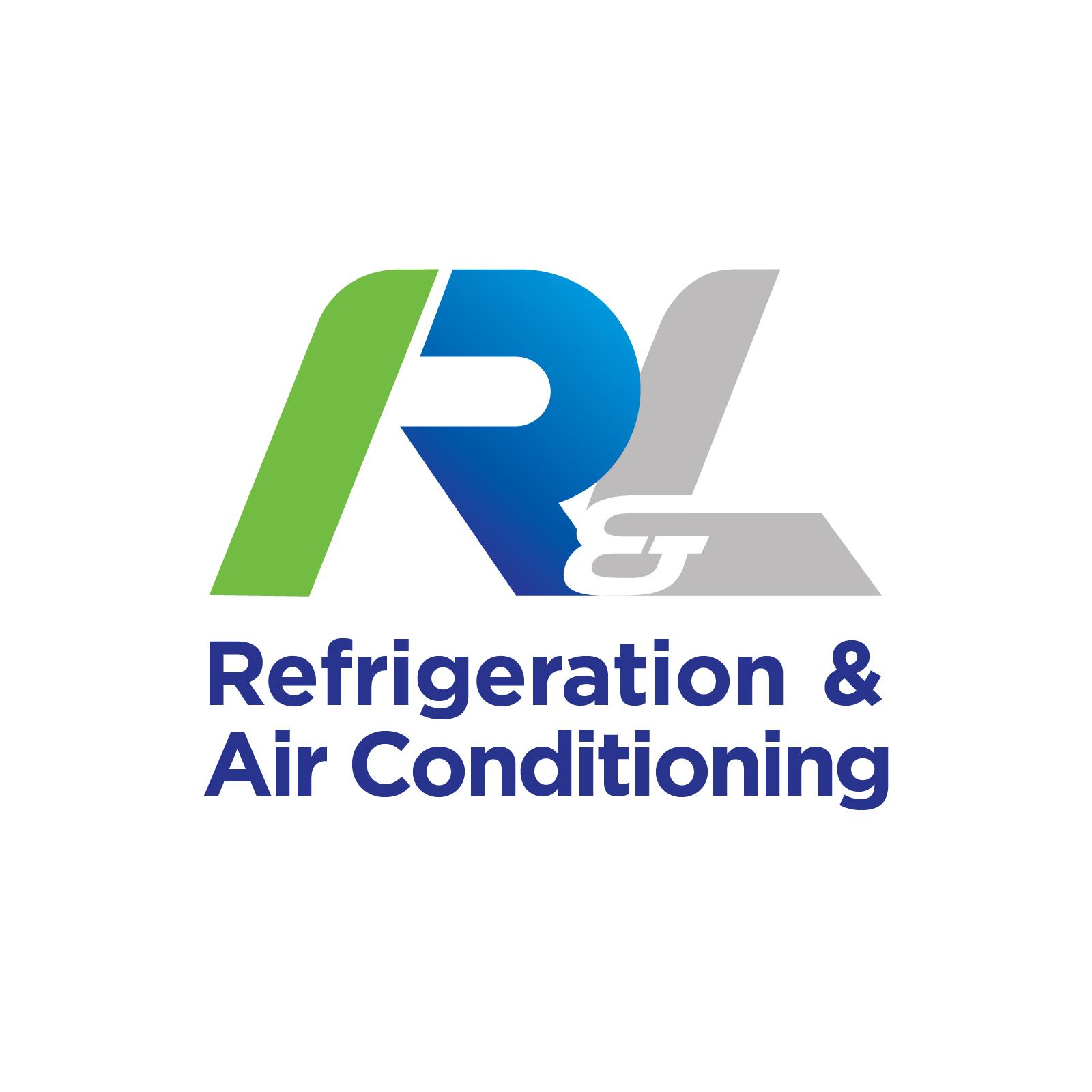 R and L logo design reversed