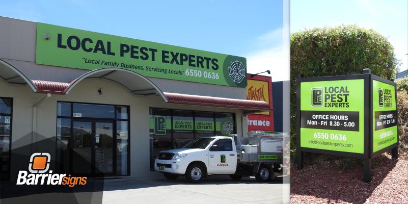 Signage Design for Local Pest Experts | Taree NSW | Juzvolter Graphic Design Studio